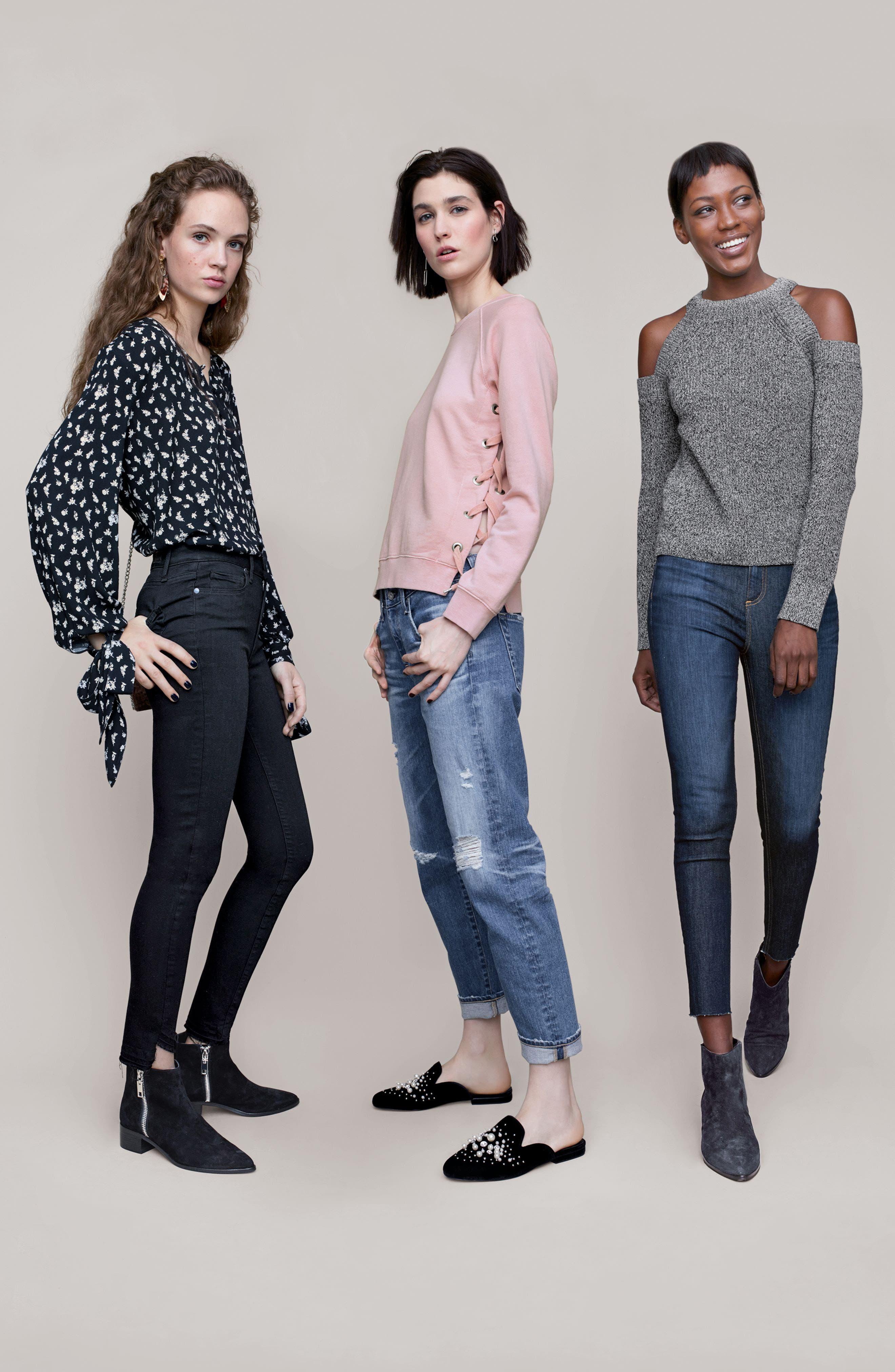 Alternate Image 2  - rag & bone/JEAN High Waist Skinny Ankle Jeans (Mad River)