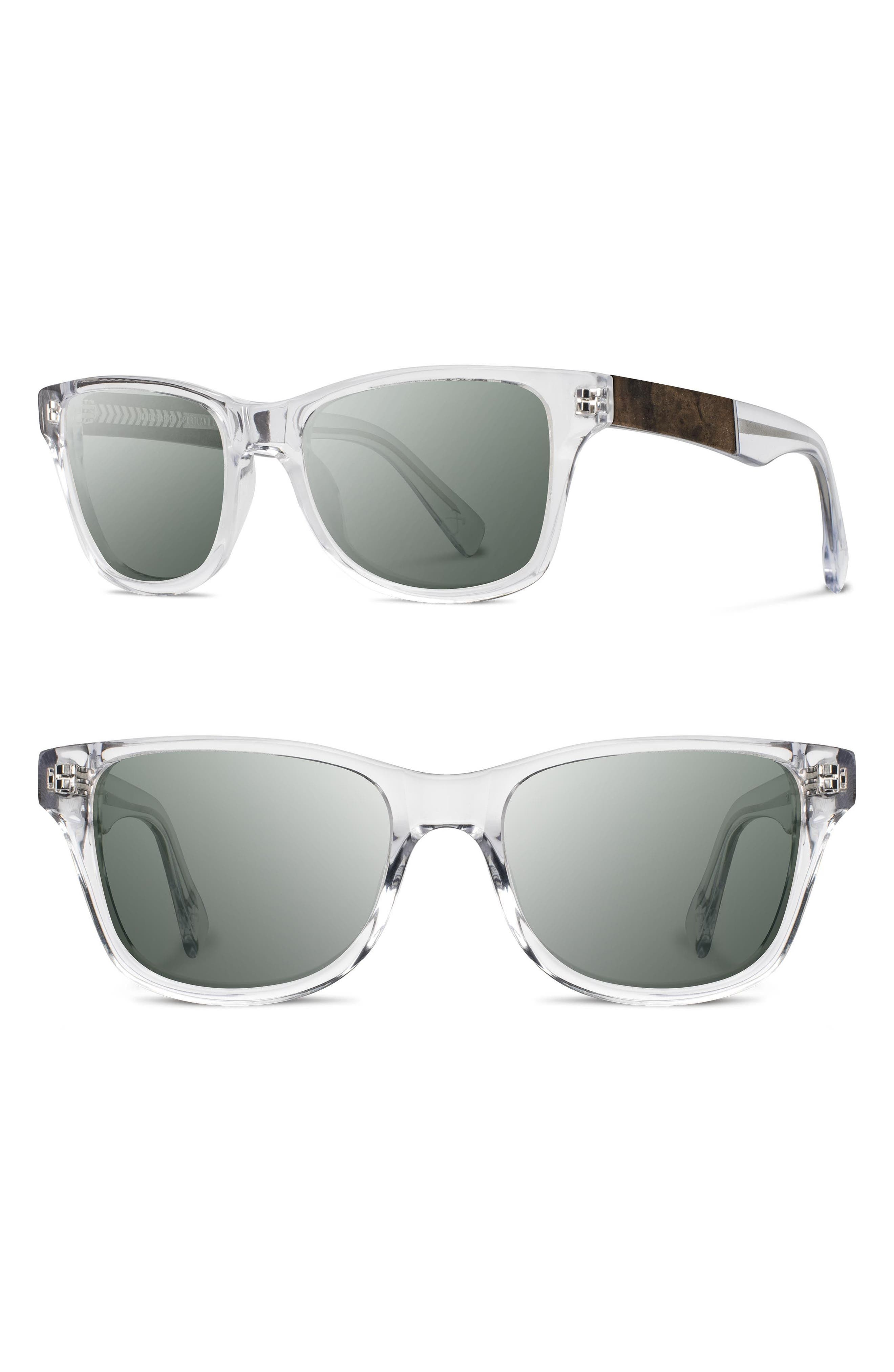 SHWOOD 'Canby' 54mm Acetate & Wood Sunglasses