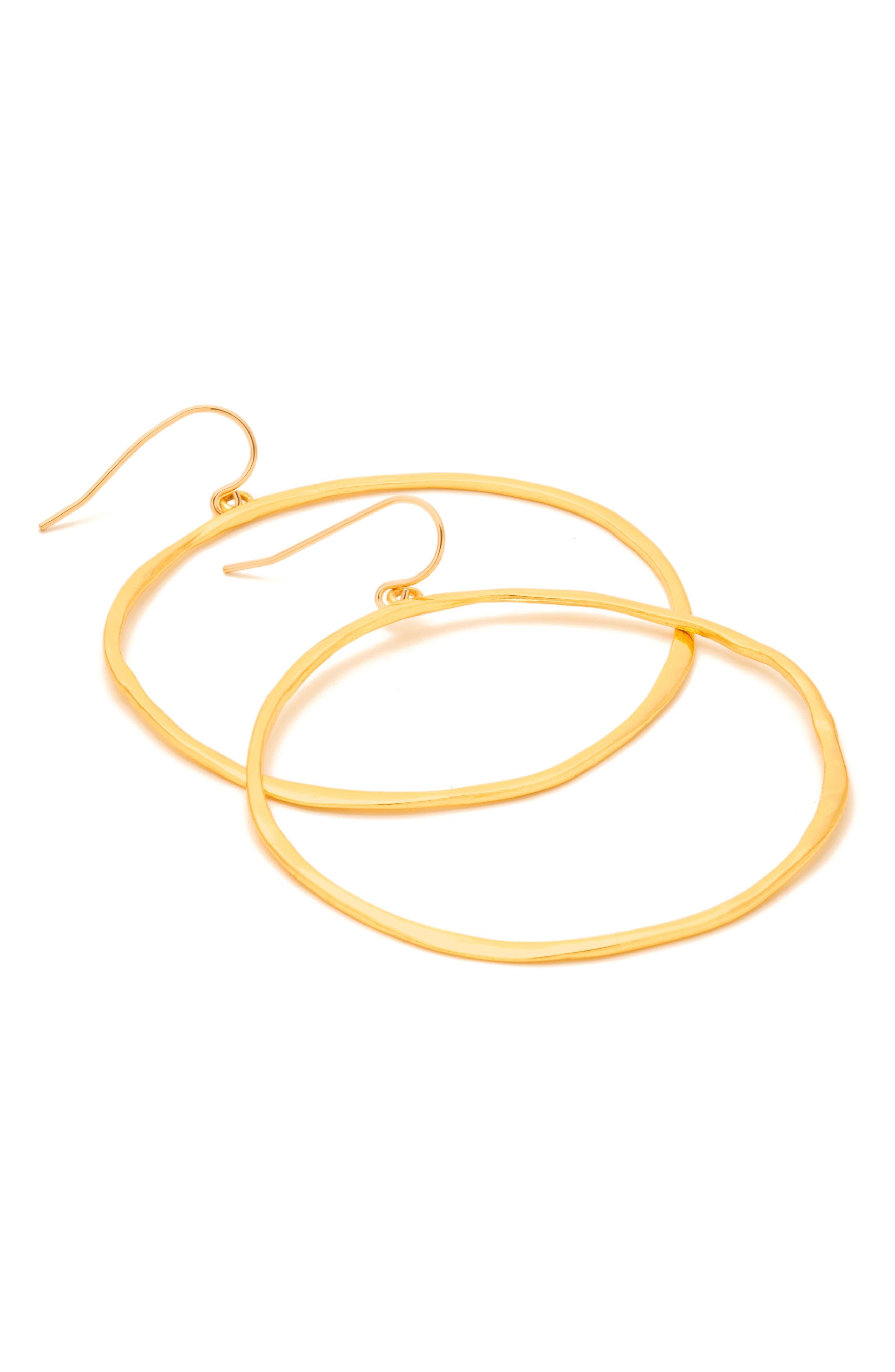 Alternate Image 5  - gorjana G-Ring Frontal Hoop Earrings