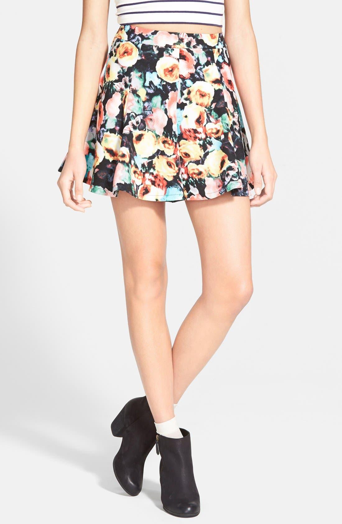 Alternate Image 1 Selected - Lush Print Skater Skirt