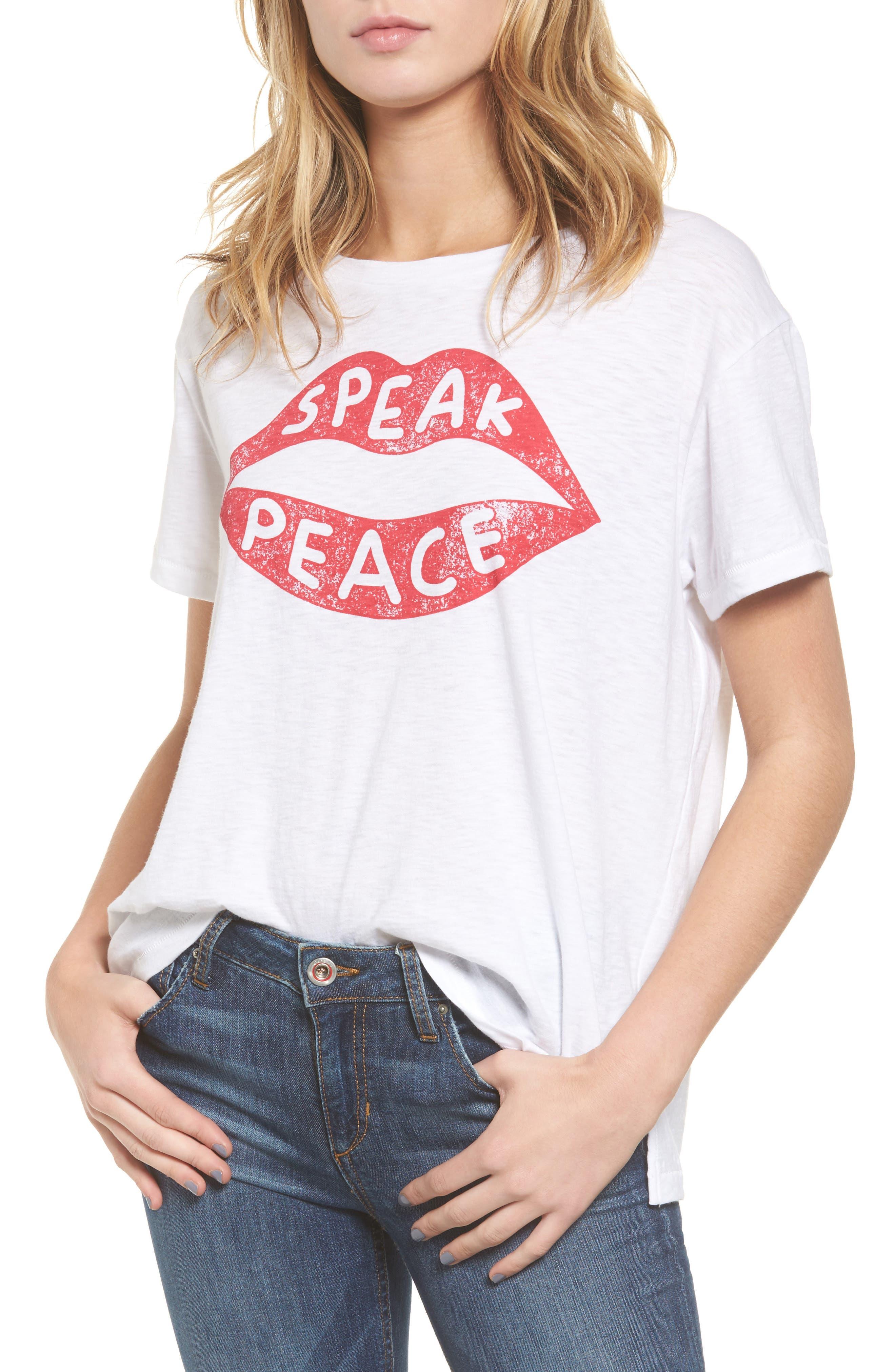 Sundry Speak Peace Tee (Nordstrom Exclusive)