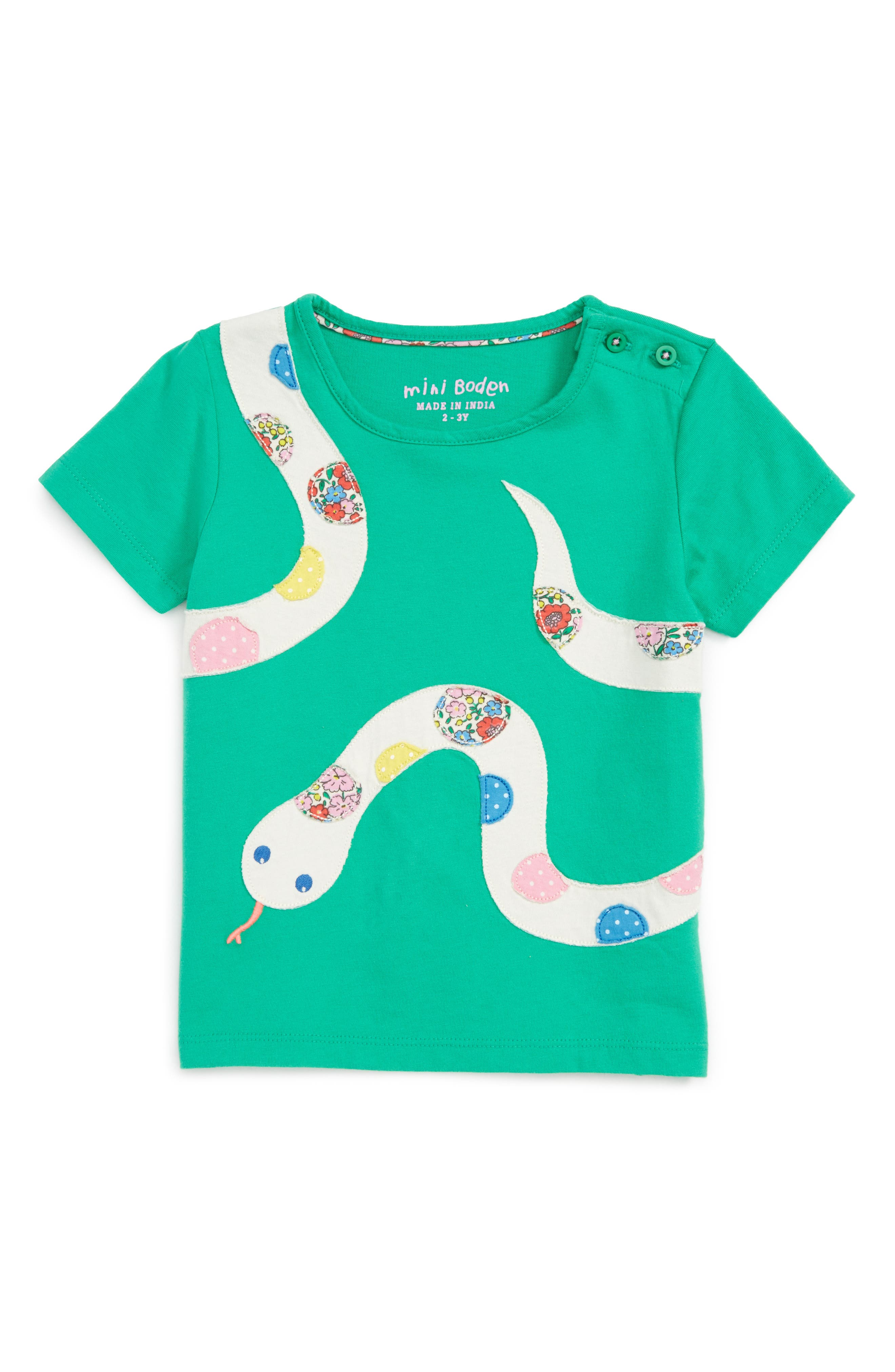 Mini Boden Rainforest Explorer Appliqué Tee (Toddler Girls, Little Girls & Big Girls)