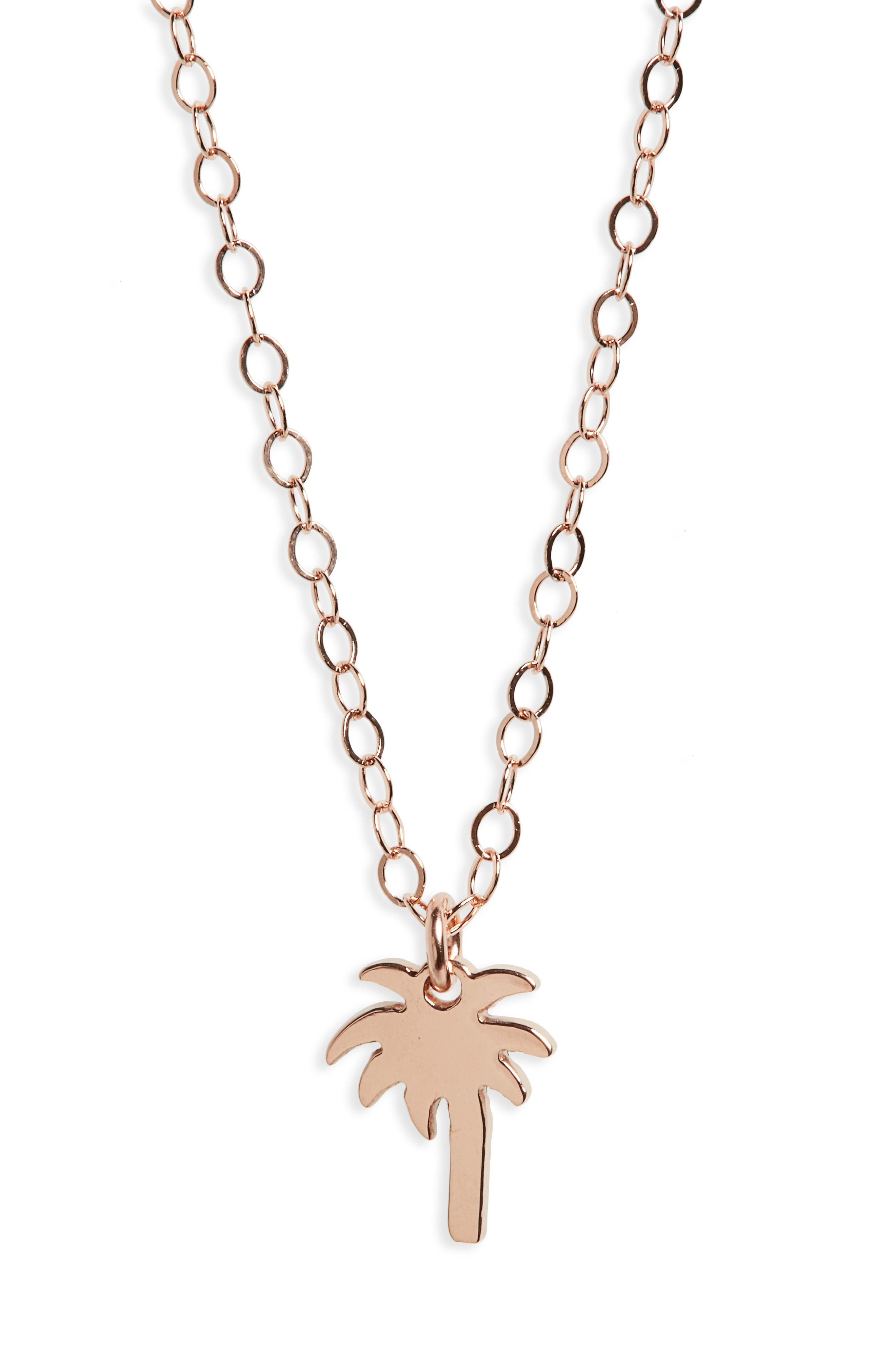 Seoul Little Maive Palm Tree Necklace