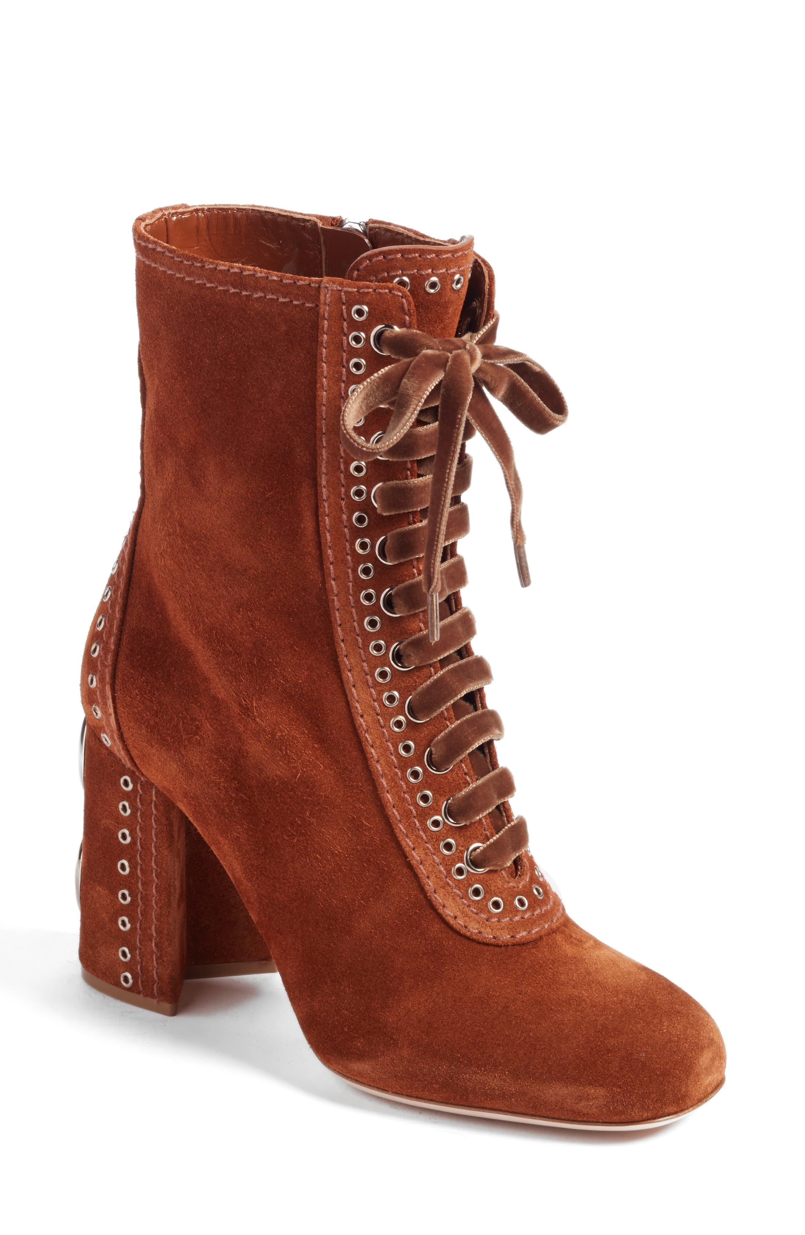 Miu Miu Lace-Up Bootie (Women)