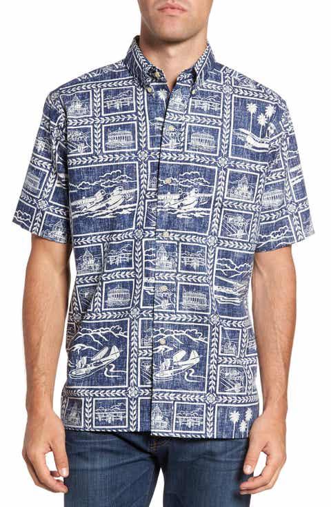 Reyn Spooner Catalina Seaplanes Print Sport Shirt
