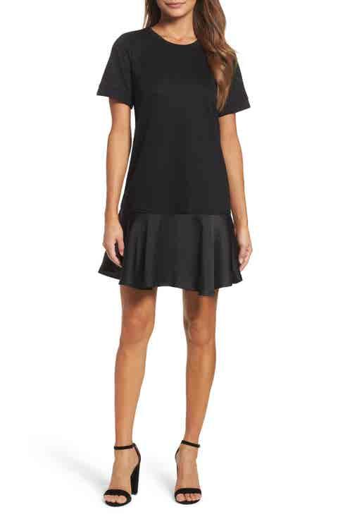 Chelsea28 Ruffle Hem Sweatshirt Dress