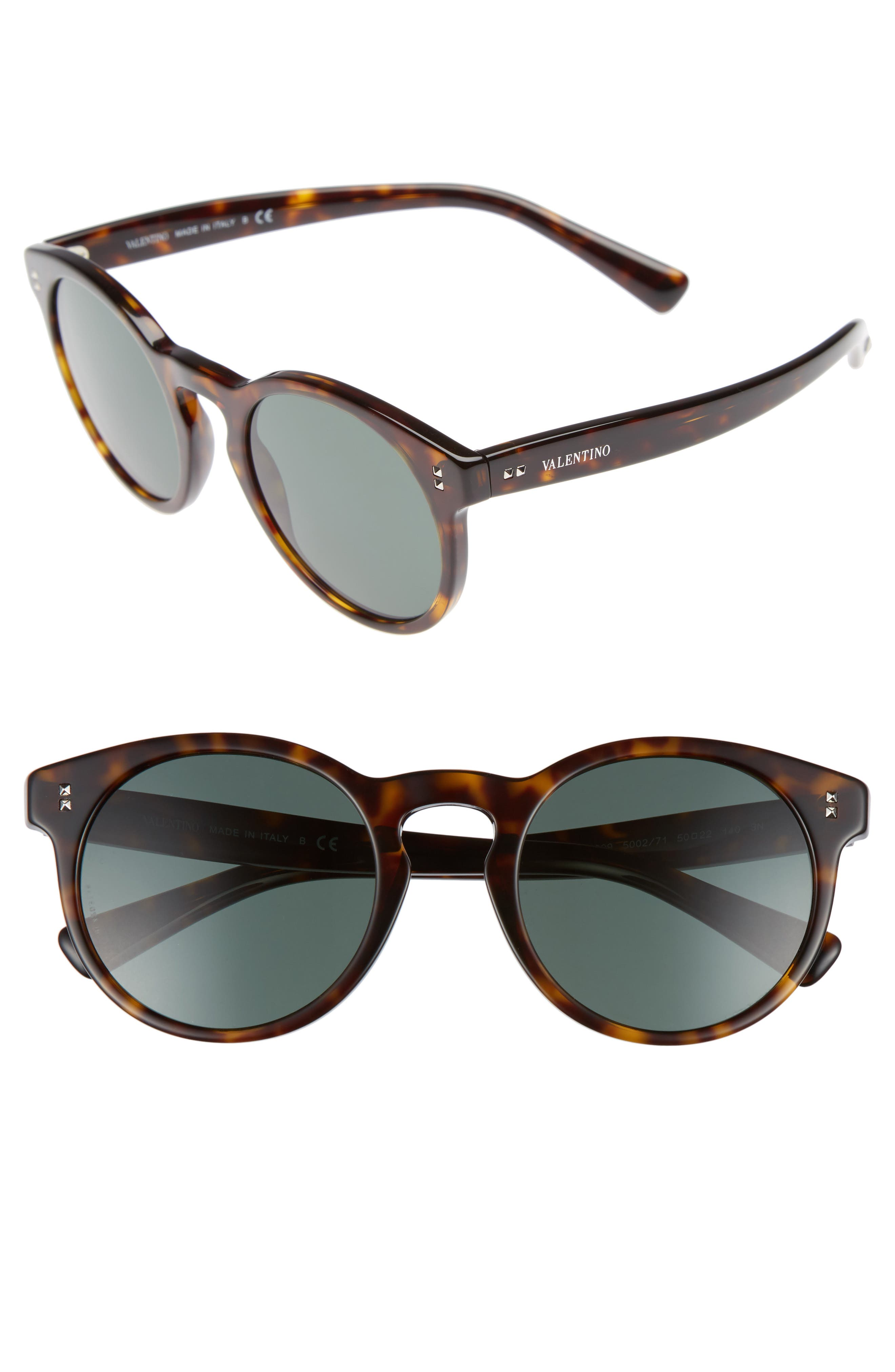 Valentino 50mm Retro Sunglasses