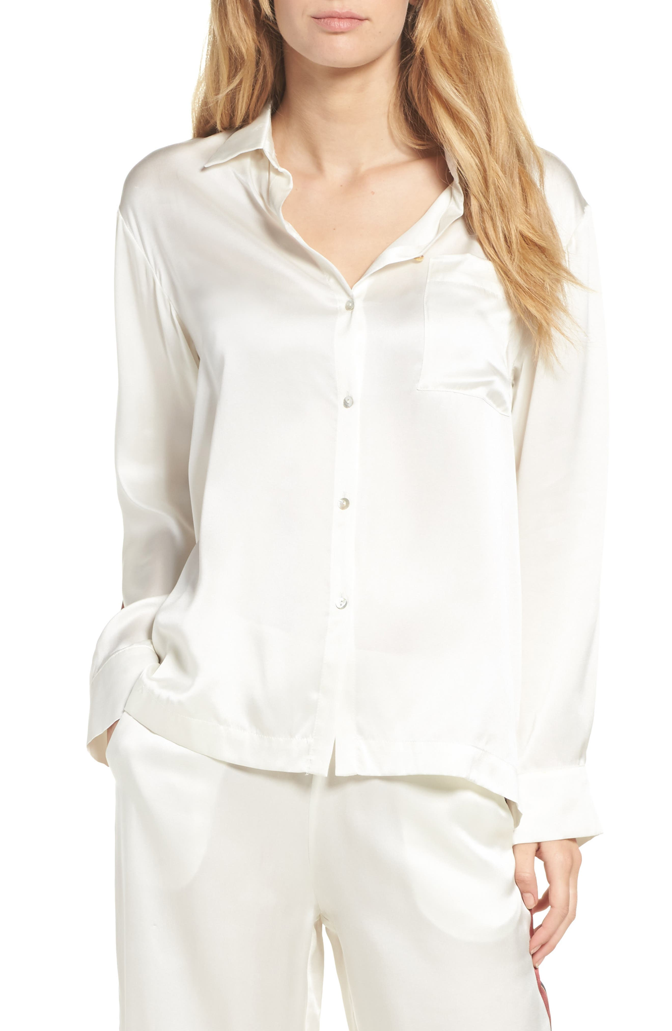Asceno by Beautiful Bottoms Silk Pajama Top
