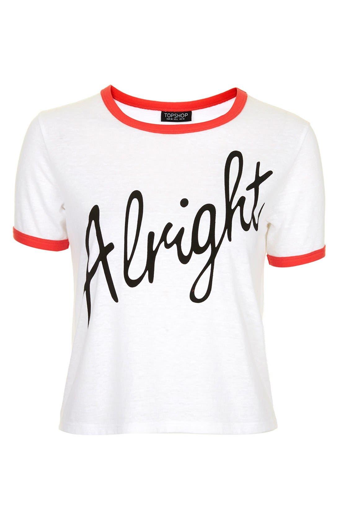 Alternate Image 5  - Topshop 'Alright' Tee (Brit Pop-In) (Nordstrom Exclusive)