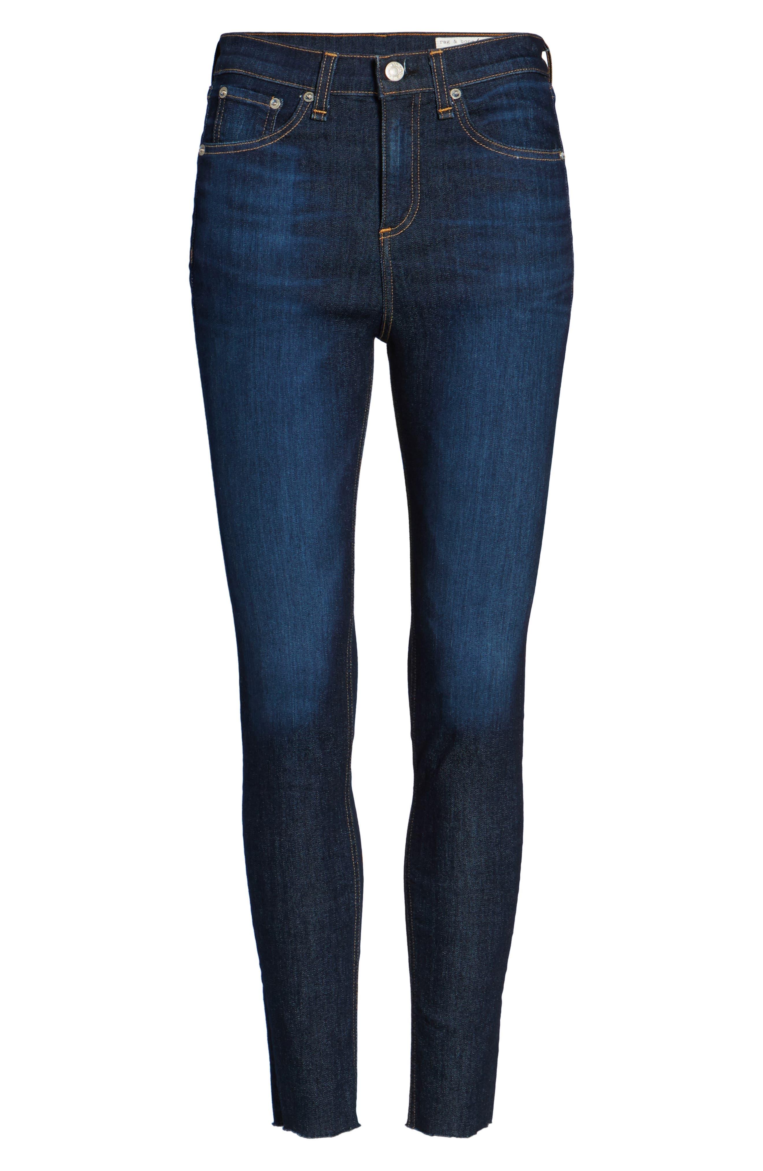 Alternate Image 7  - rag & bone/JEAN High Waist Skinny Ankle Jeans (Mad River)