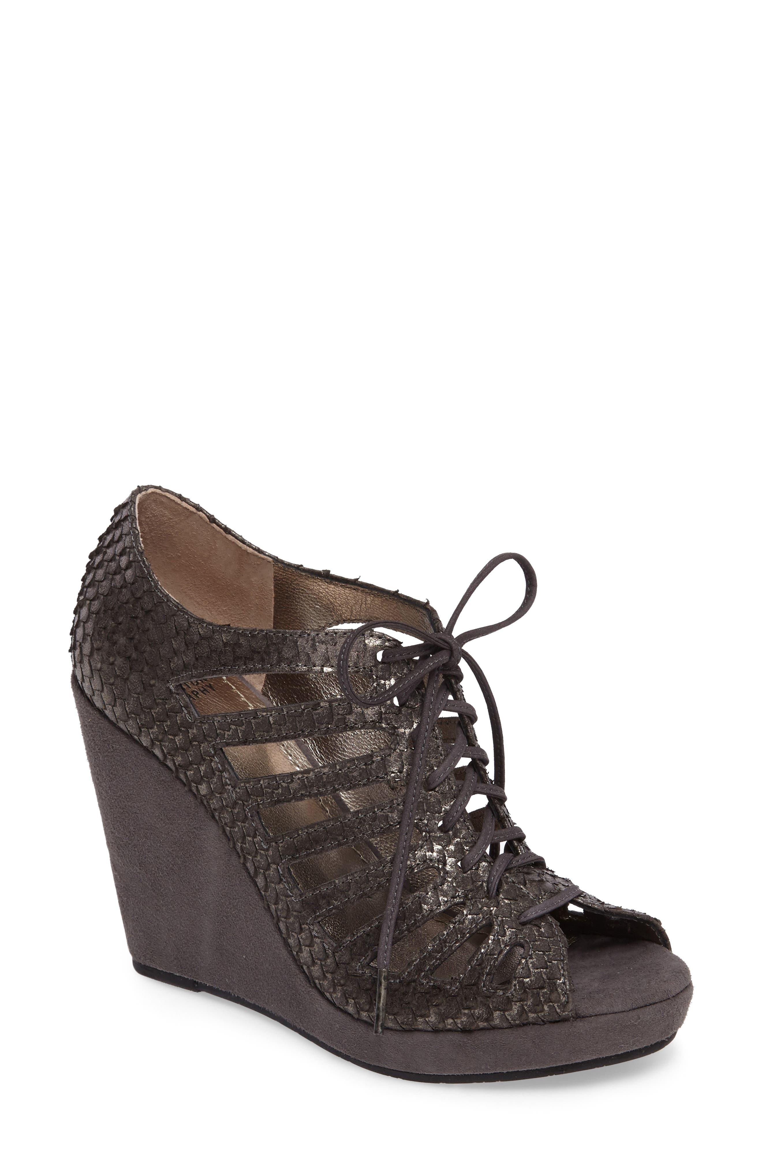 Johnston & Murphy Maddie Caged Wedge Sandal (Women)