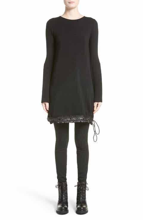 Moncler Drawstring Hem Tricot Knit Dress