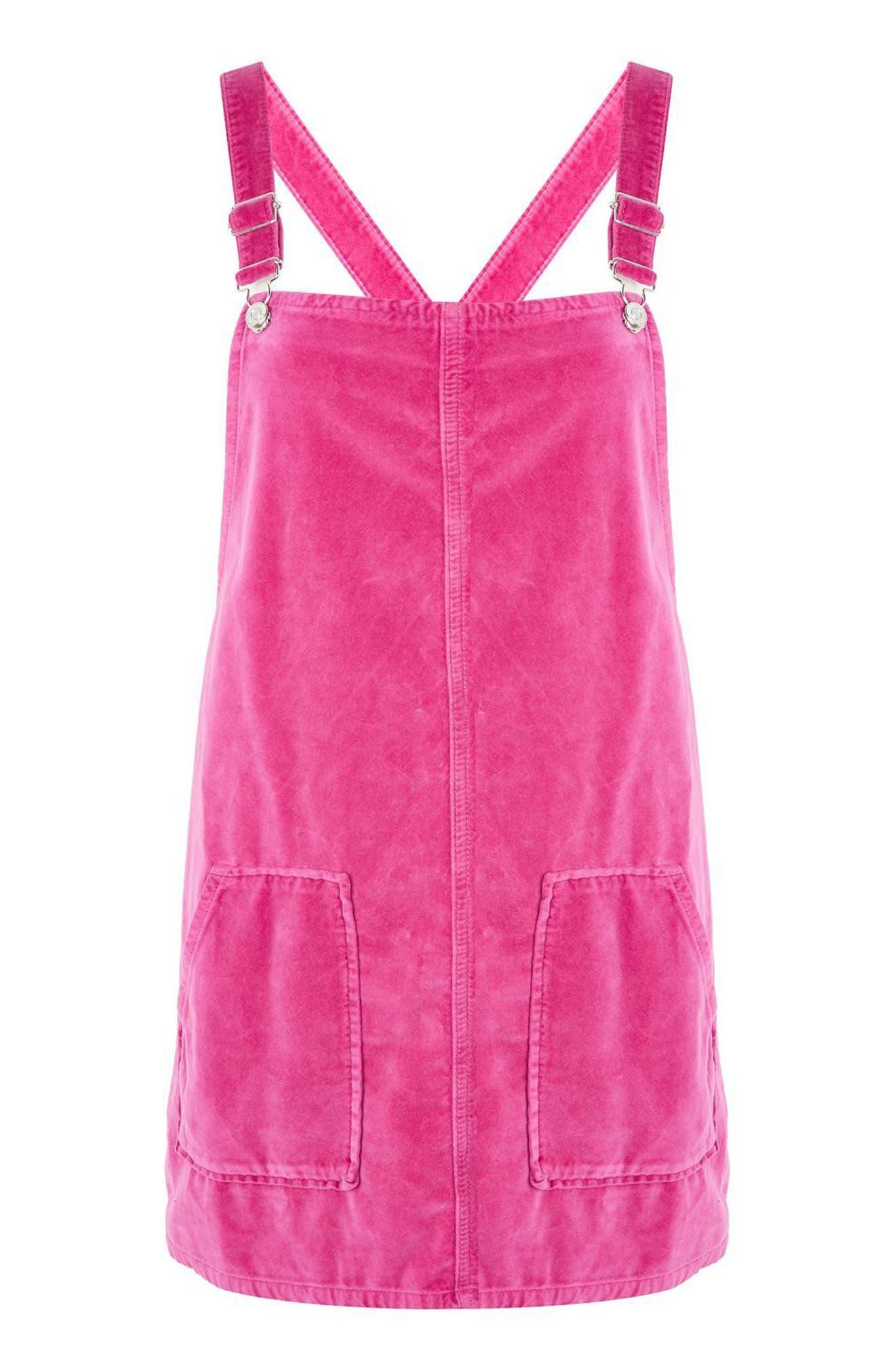 Alternate Image 3  - Topshop Velvet Pinafore Dress