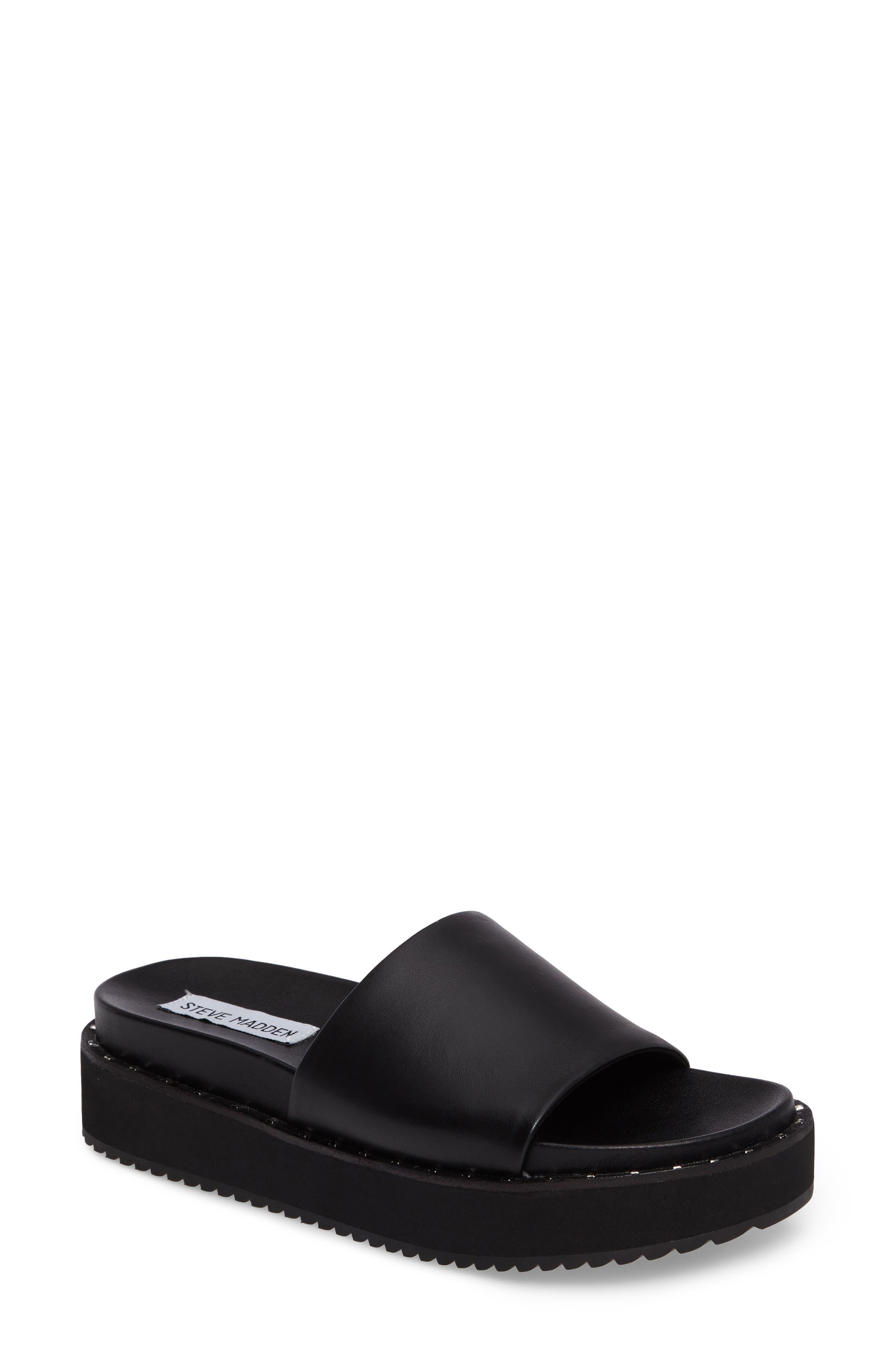 Steve Madden Jen Studded Platform Slide Sandal (Women)