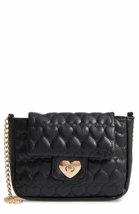 Capelli of New York Quilted Heart Shoulder Bag (Girls)