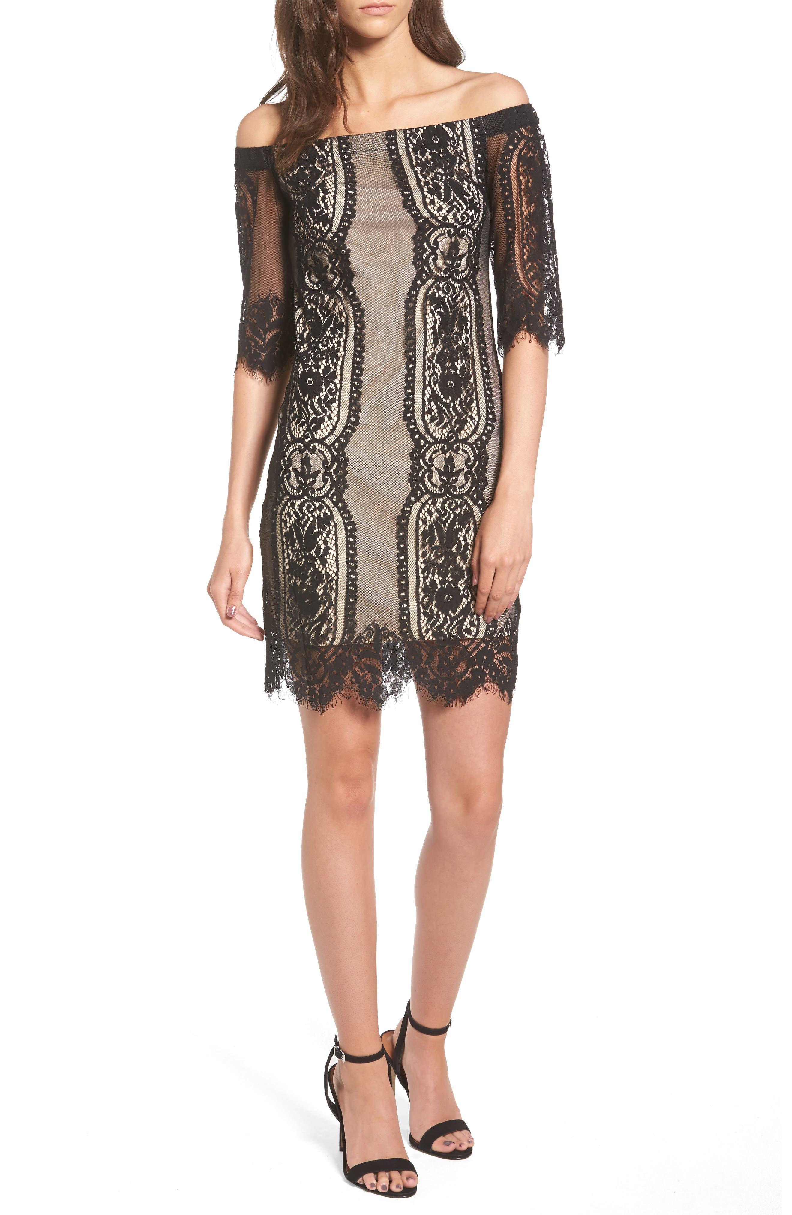 Lush Lace Off the Shoulder Dress