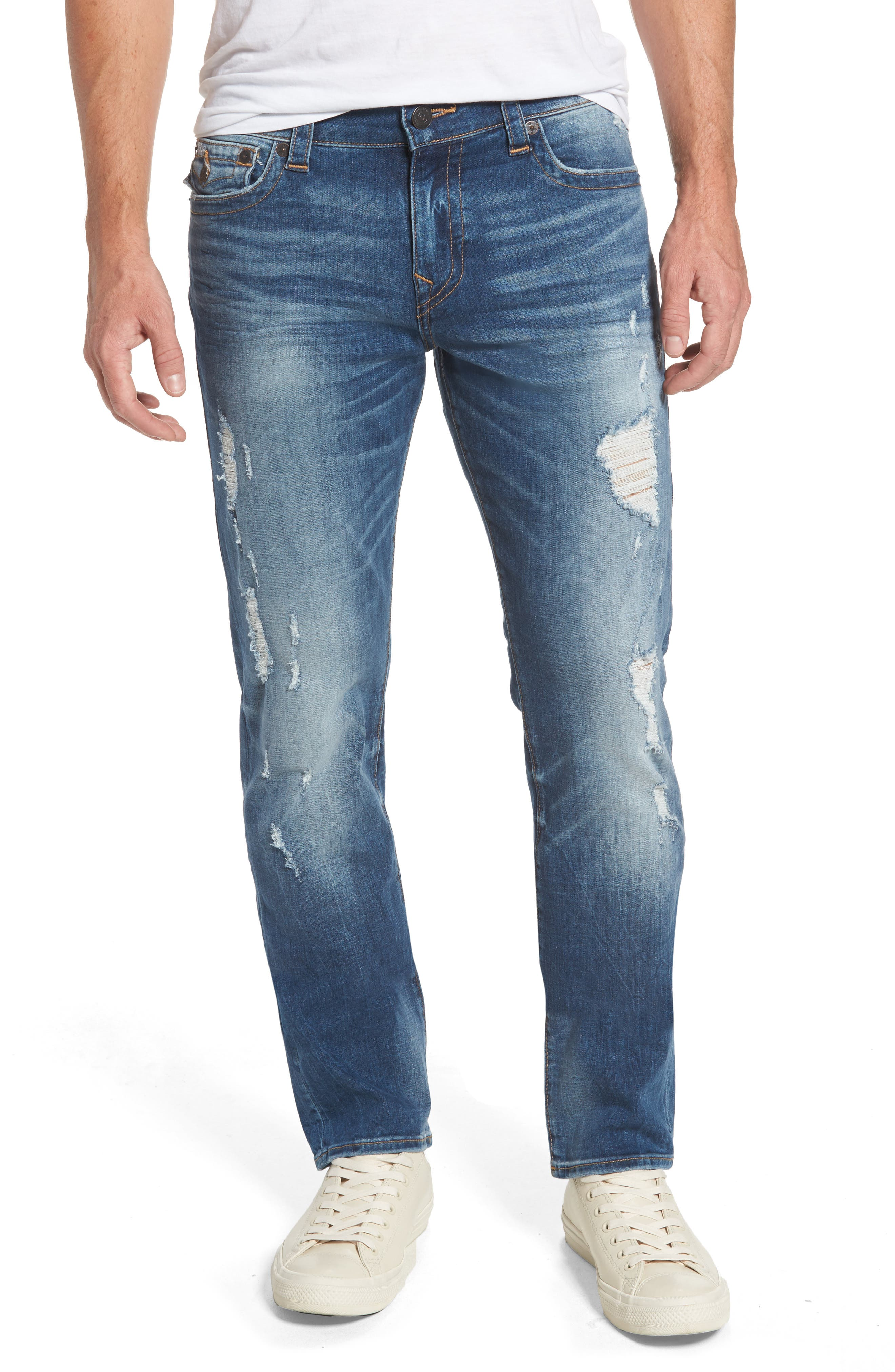 True Religion Brand Jeans Geno Straight Leg Jeans (Worn Rebellion)