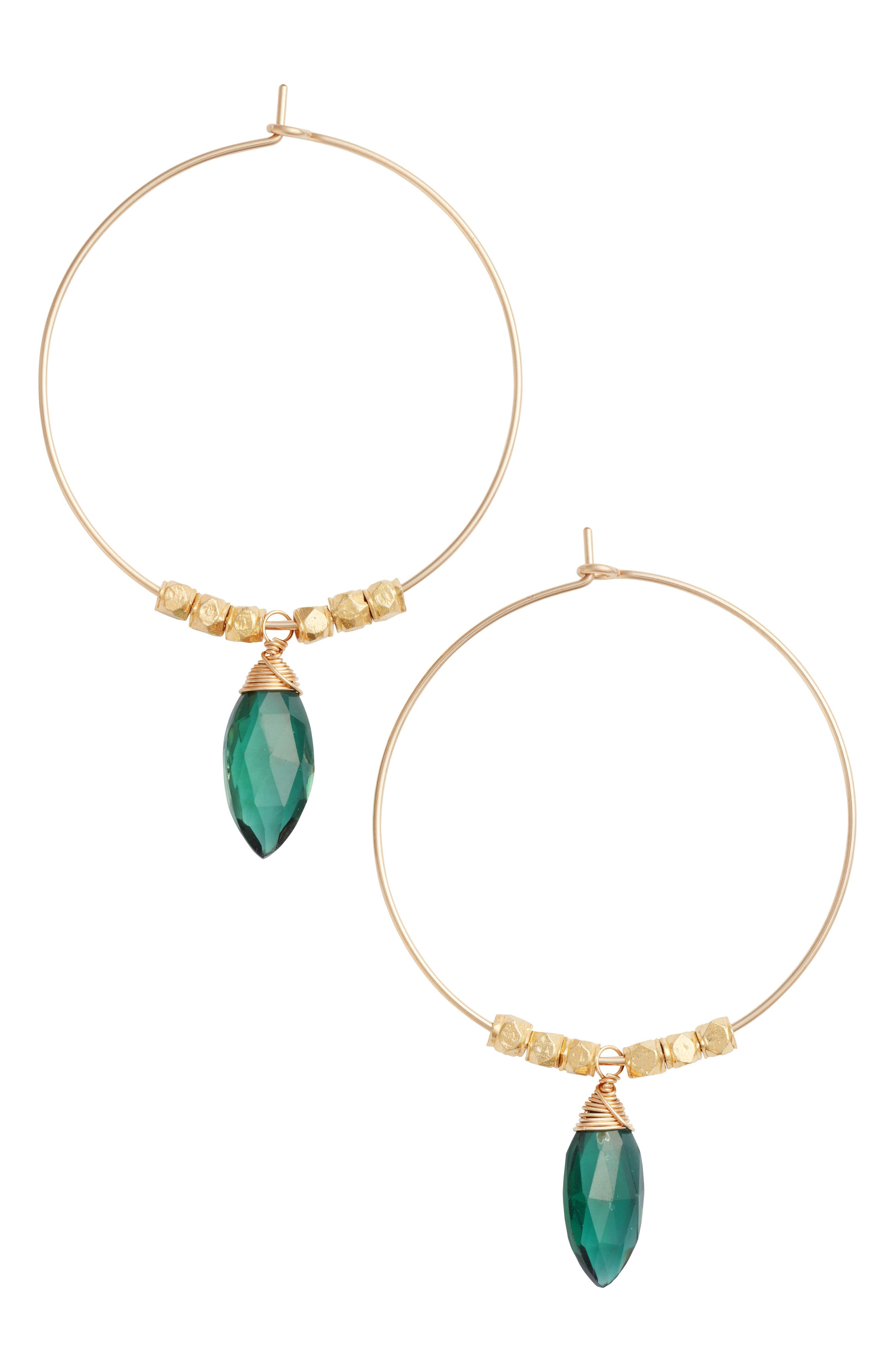 Nashelle Spearhead Soul Hoop Earrings