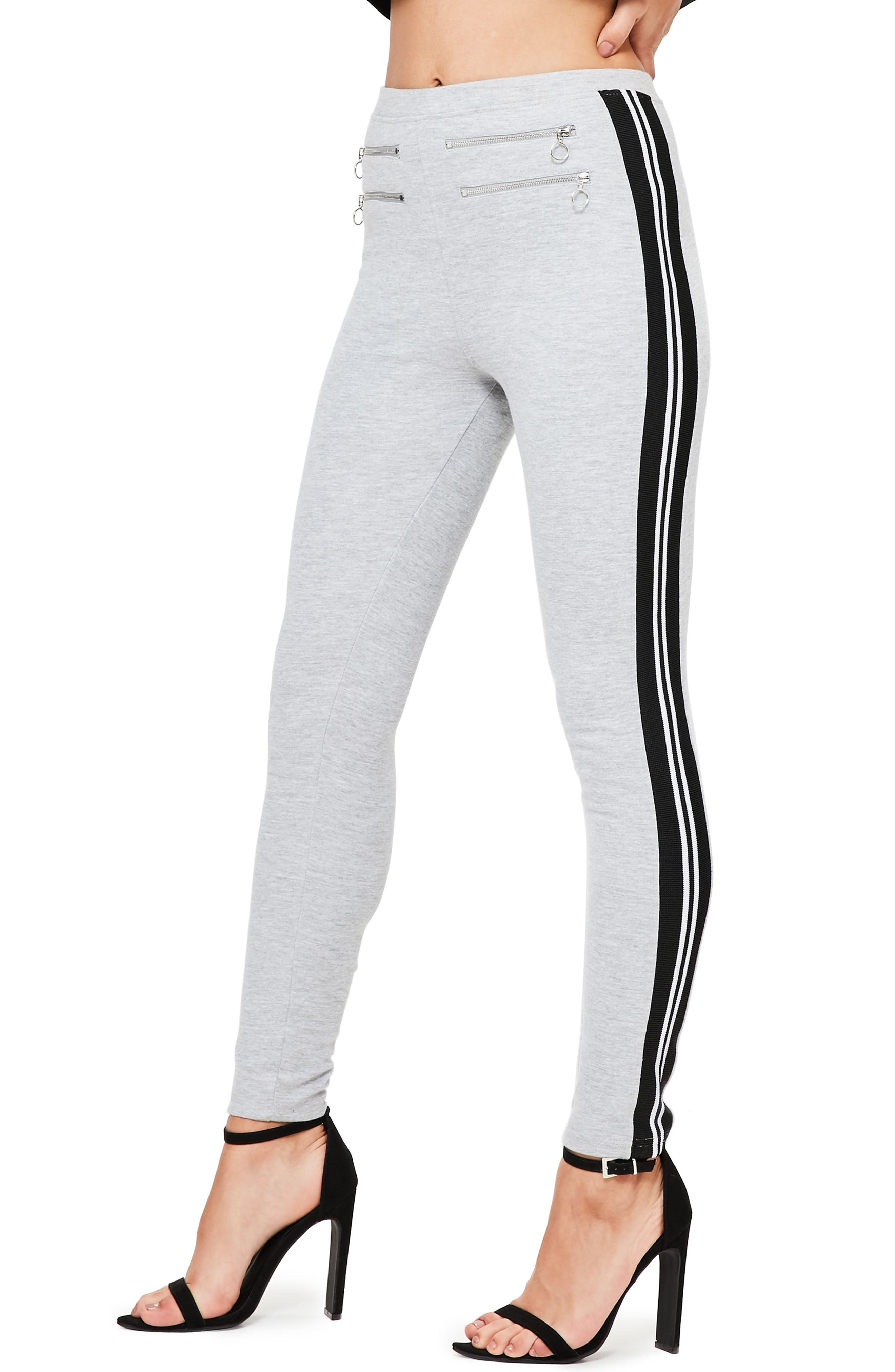Missguided Sport Stripe Knit Pants