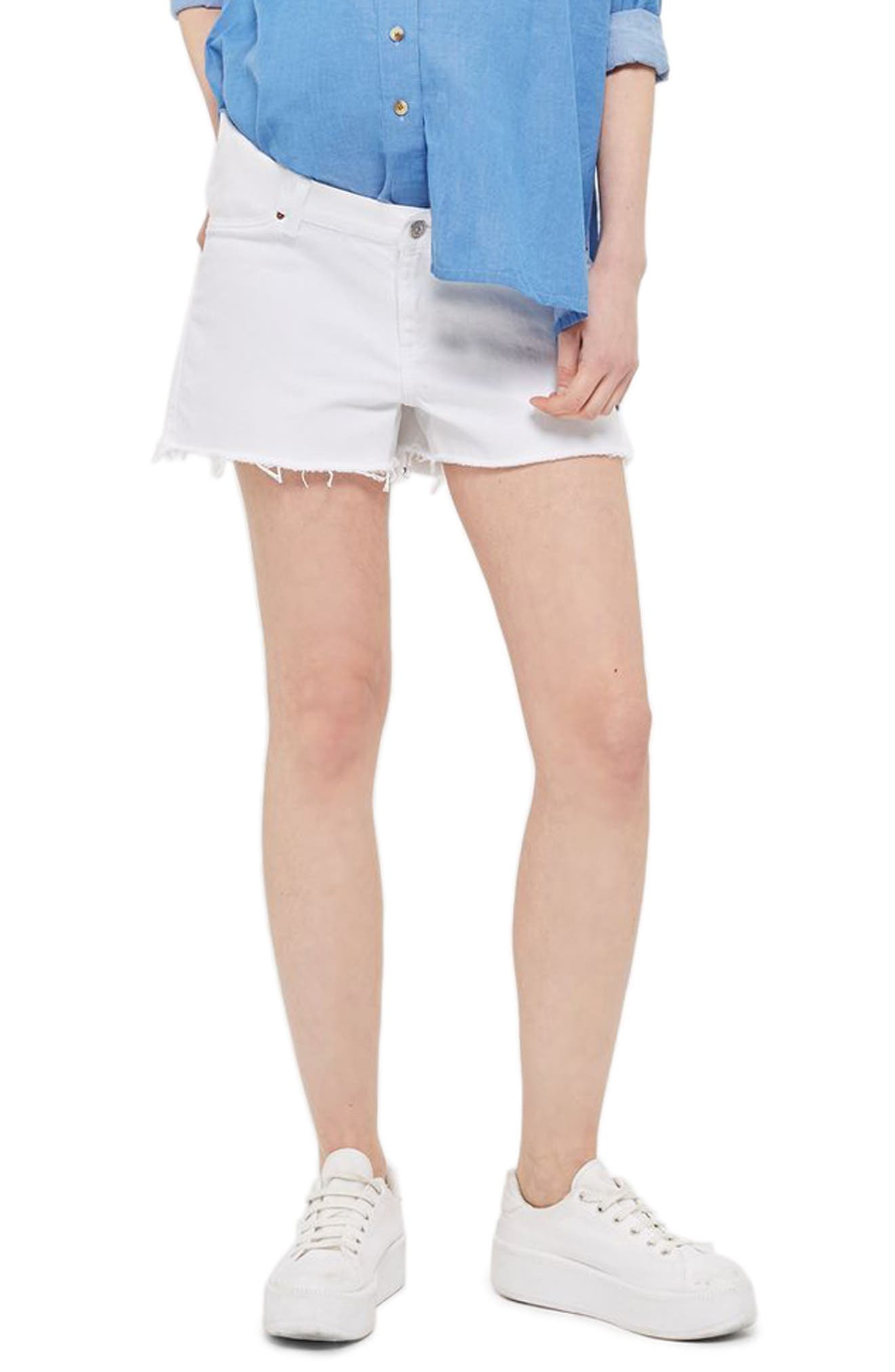 Topshop Cutoff Maternity Mom Shorts