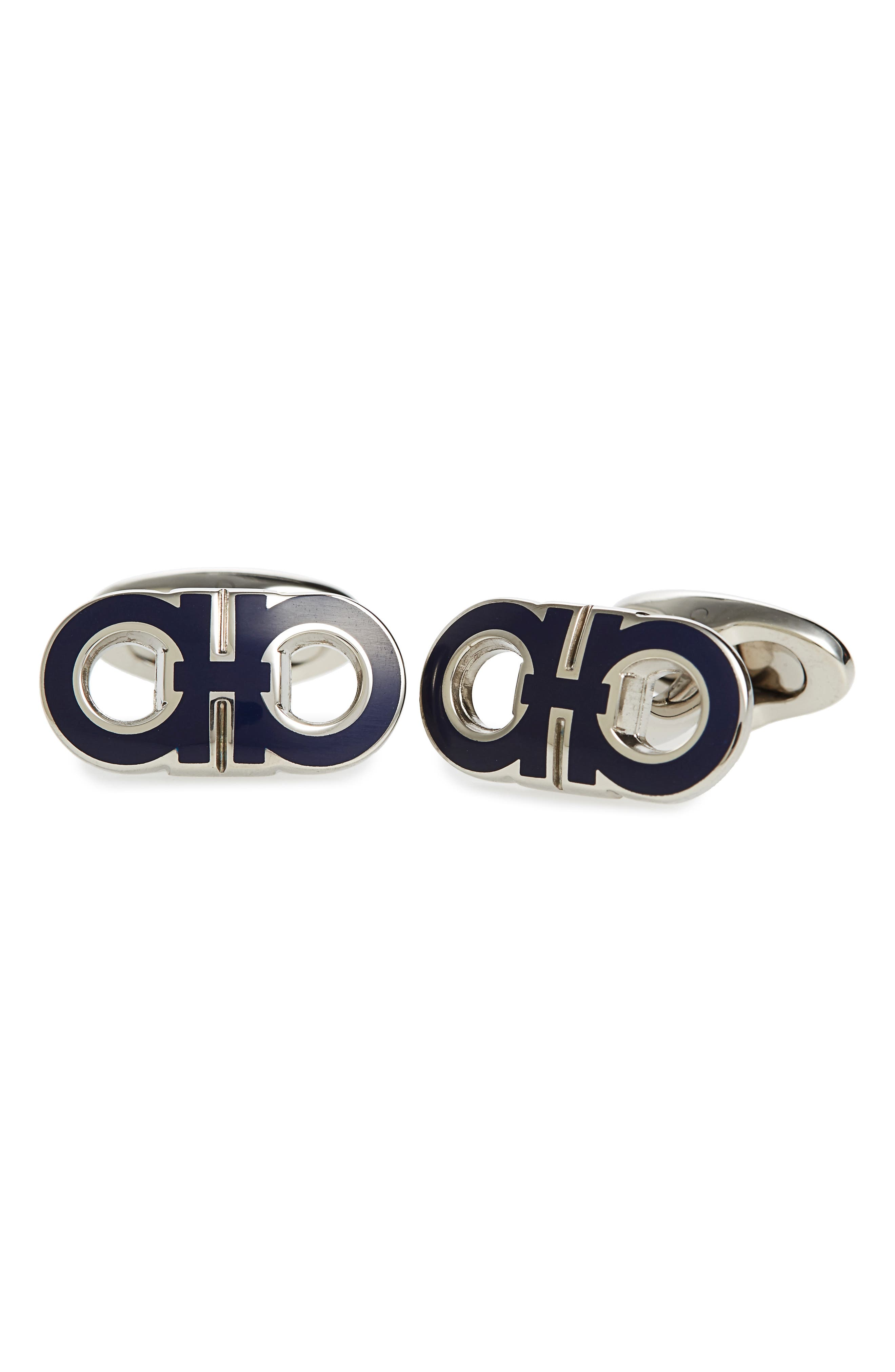 Salvatore Ferragamo Double Gancini Cuff Links