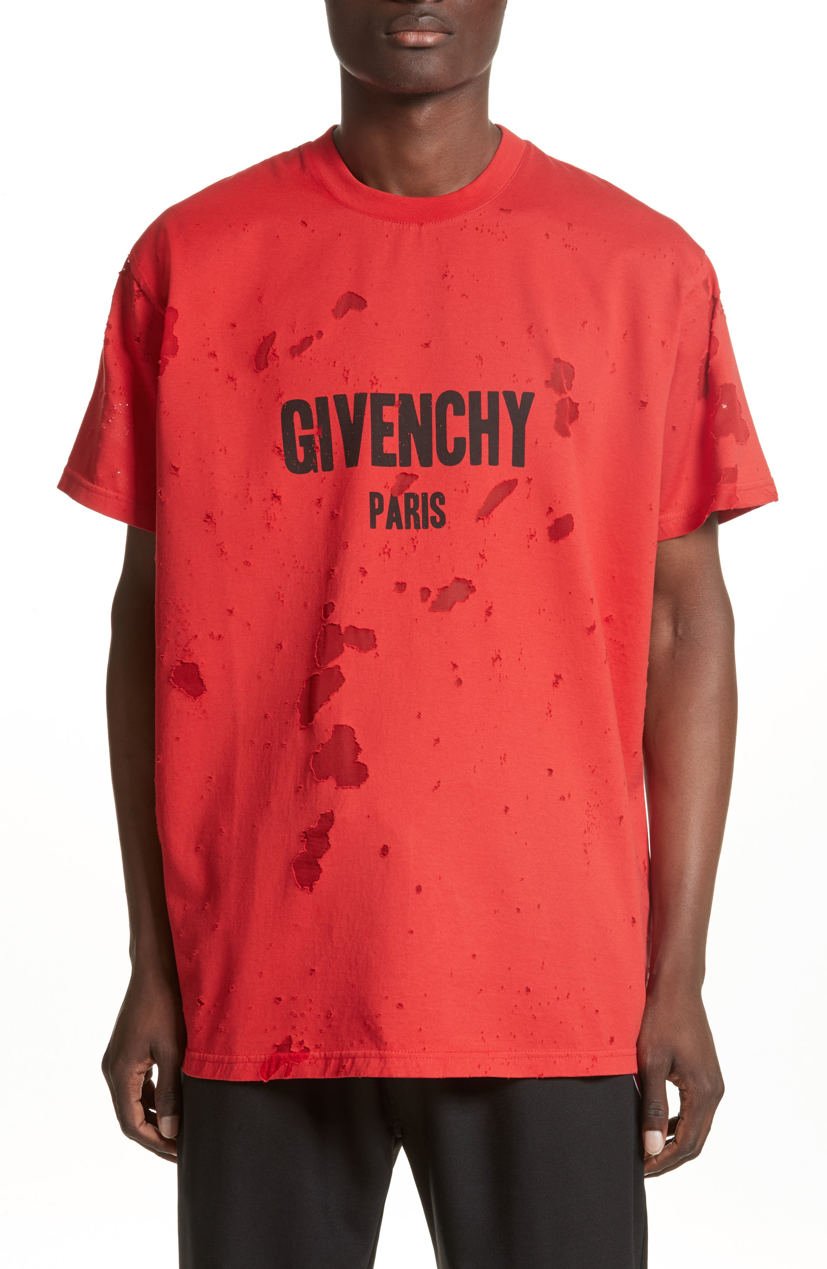 Givenchy Colombian Fit Distressed Logo T-Shirt
