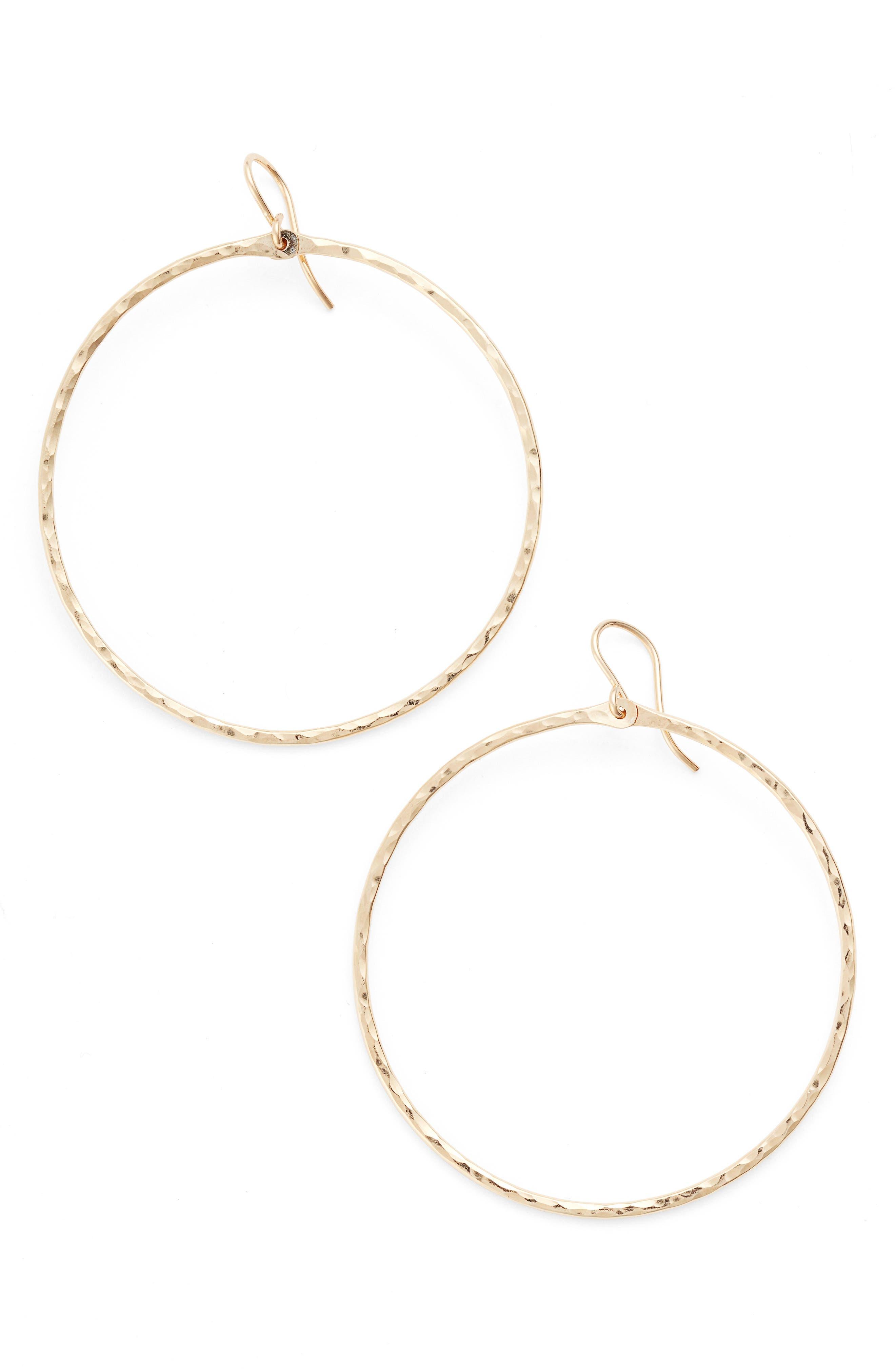 Nashelle Hammered Hoop Earrings