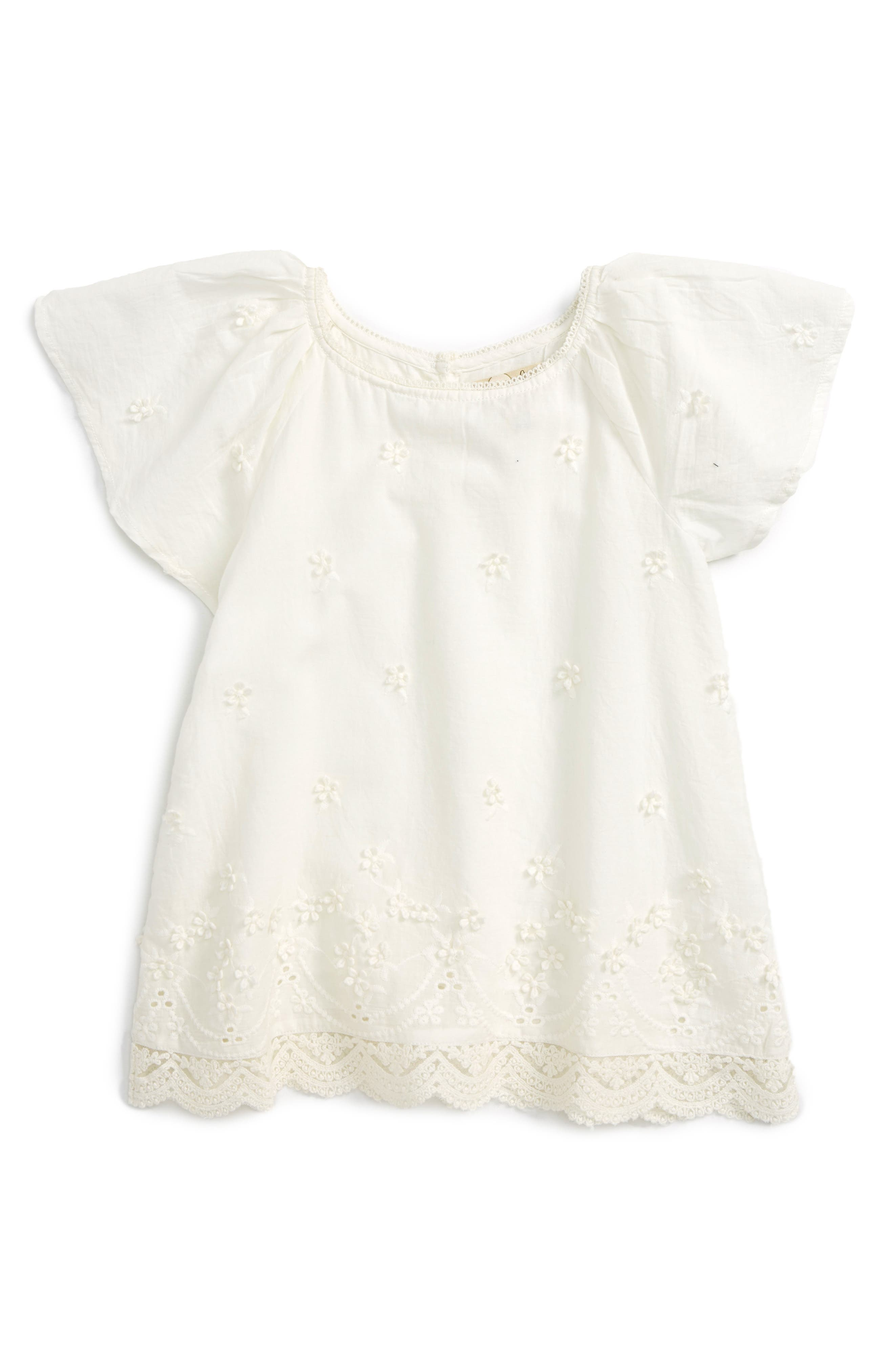 Peek Frances Flutter Sleeve Top (Toddler Girls, Little Girls & Big Girls)