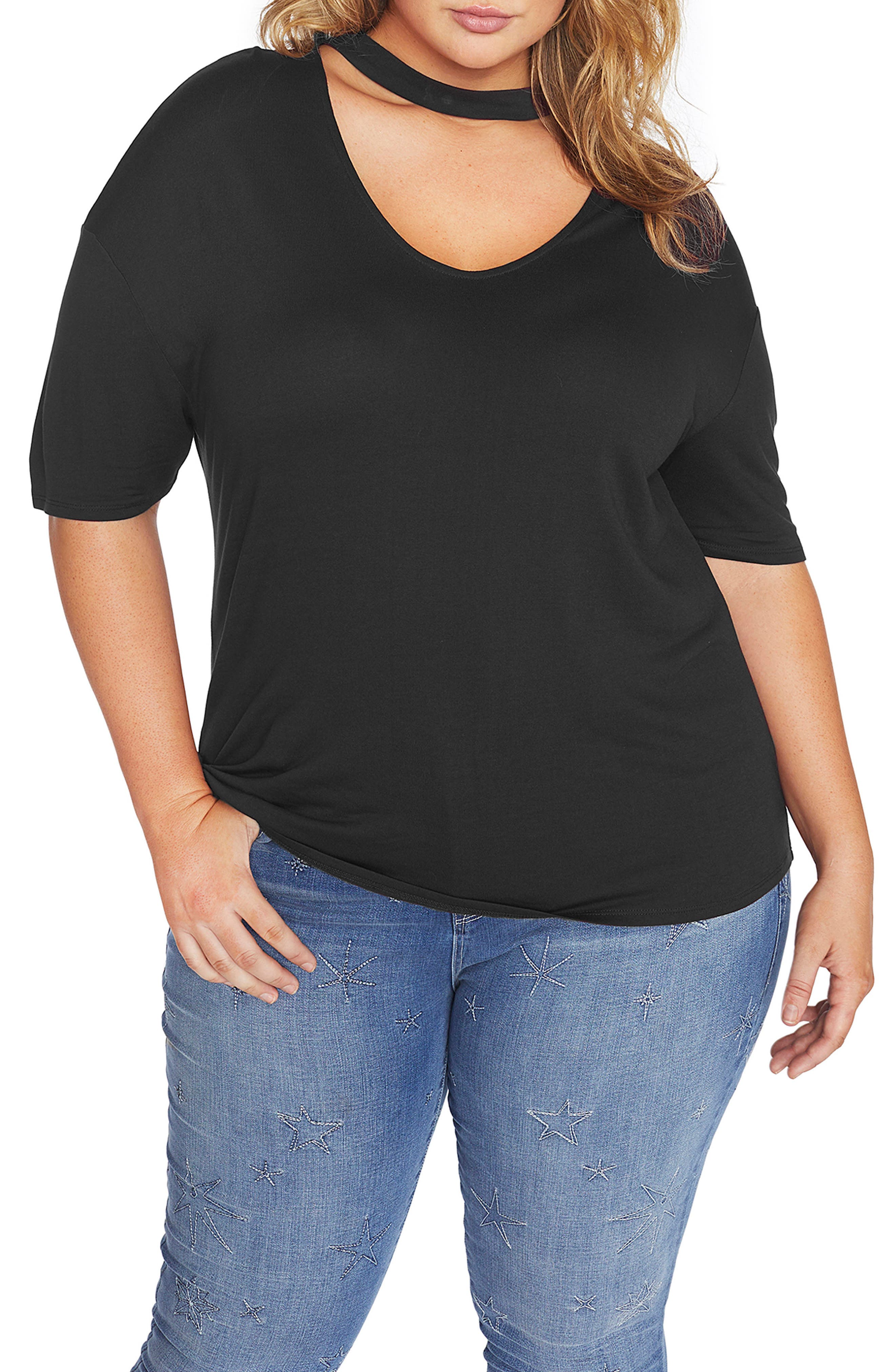 REBEL WILSON X ANGELS Knit Top with Neckband (Plus Size)