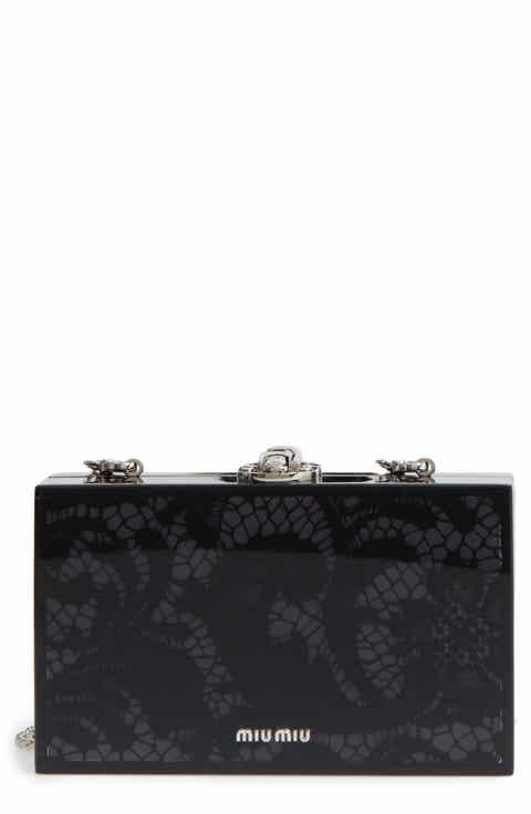Miu Miu Lace Box Clutch