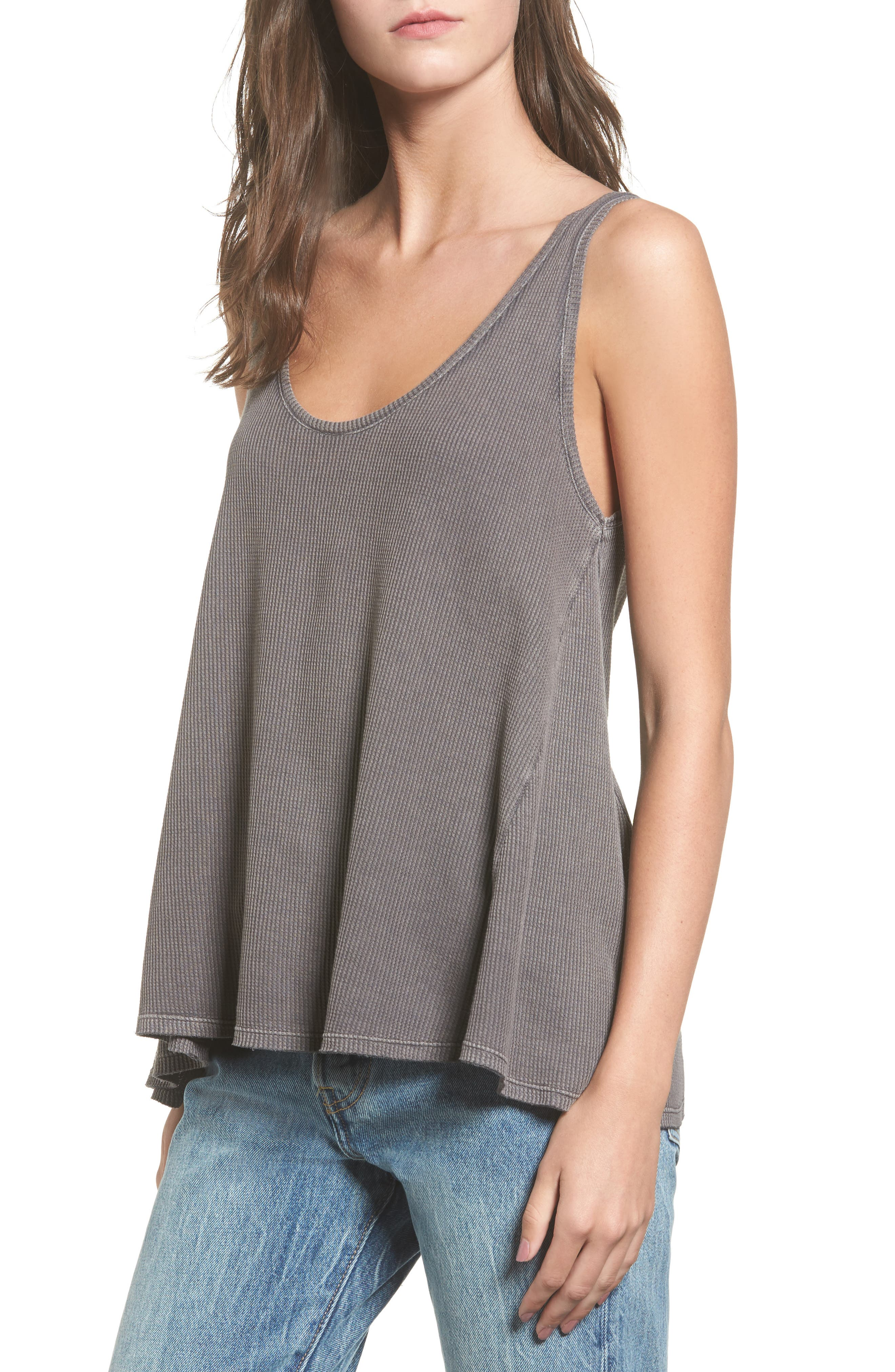 Sun & Shadow Washed Thermal Tank