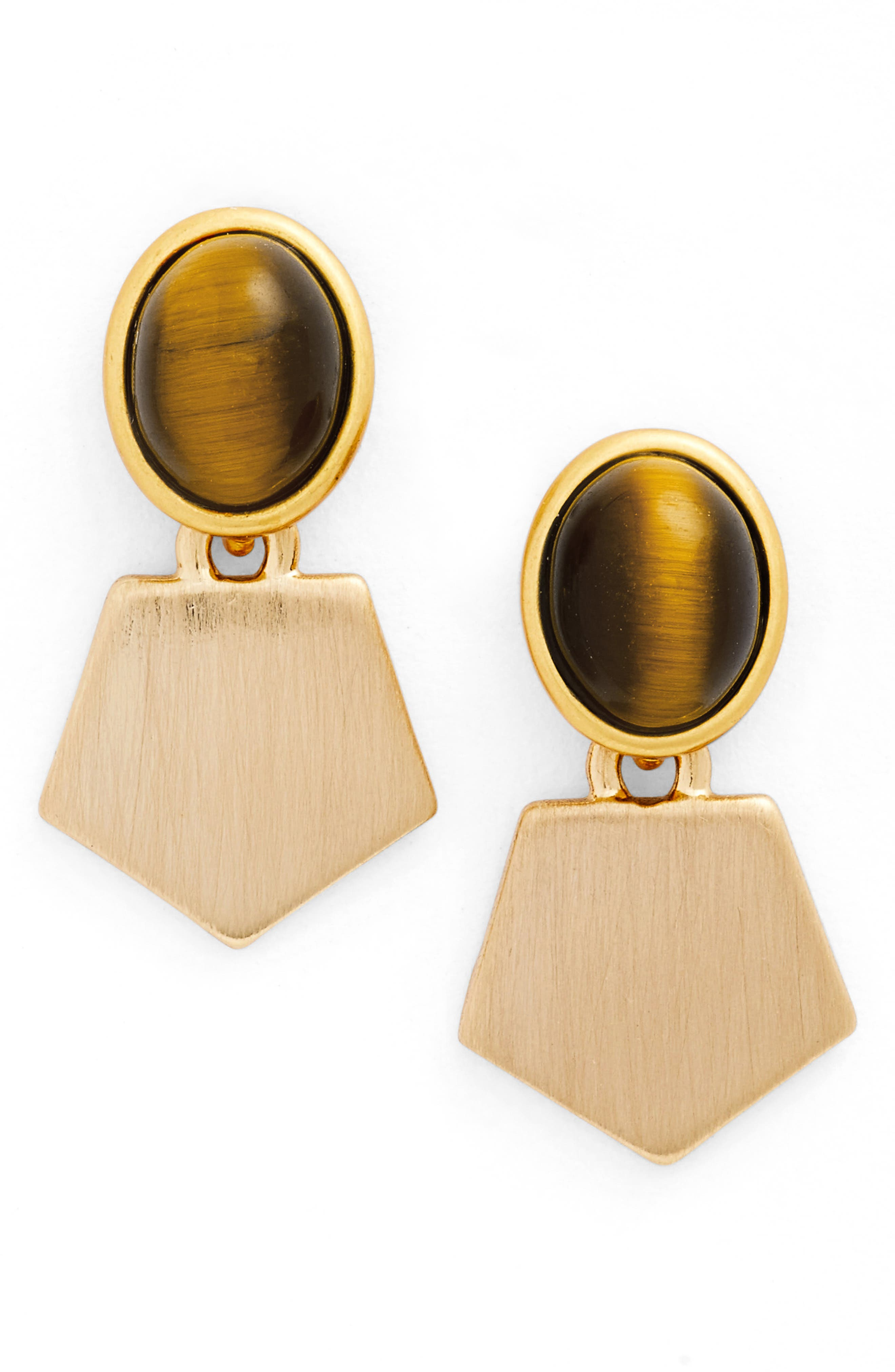 Madewell Tiger's-Eye Drop Earrings