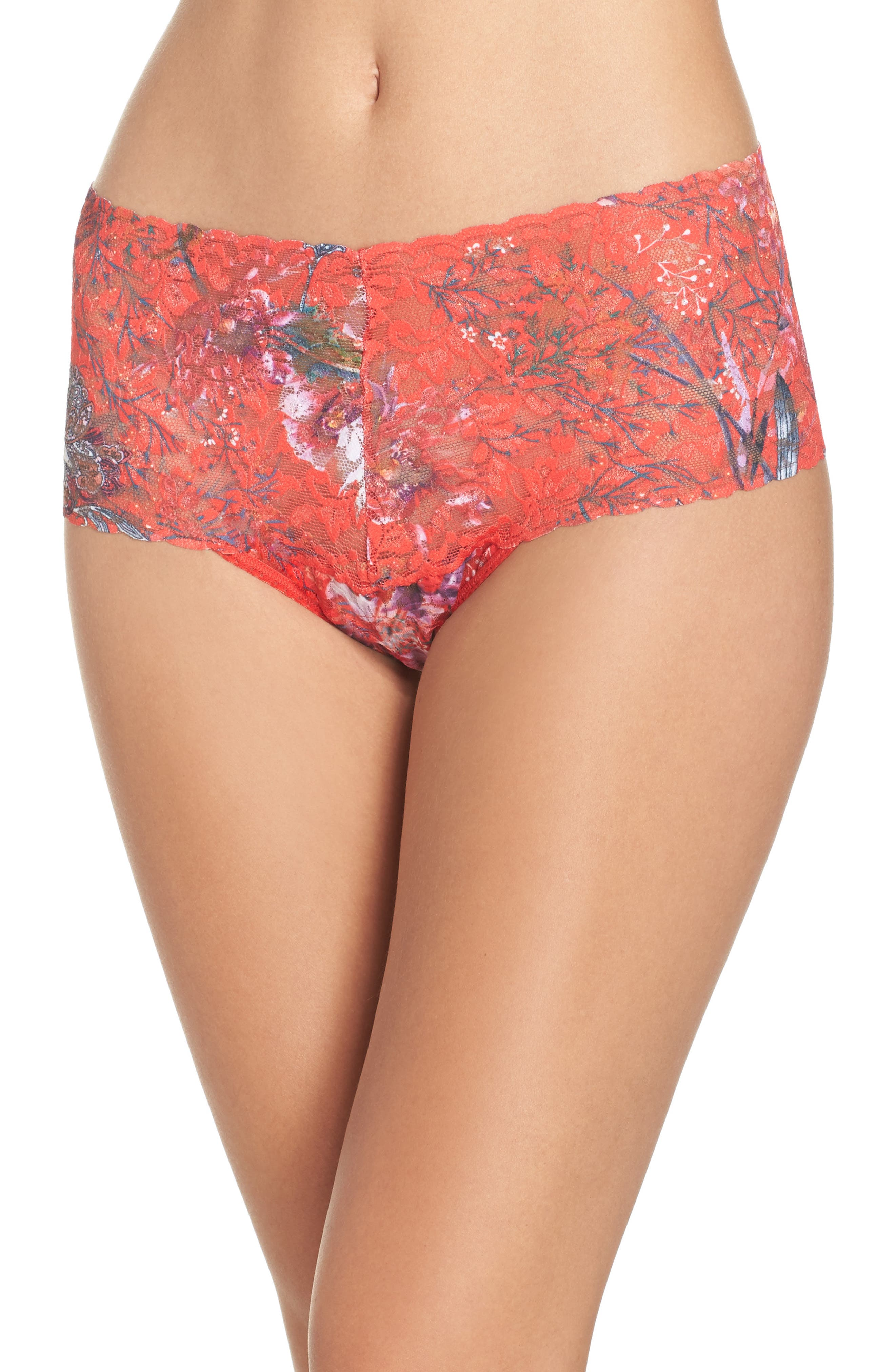 Hanky Panky Fiery Floral Retro Thong