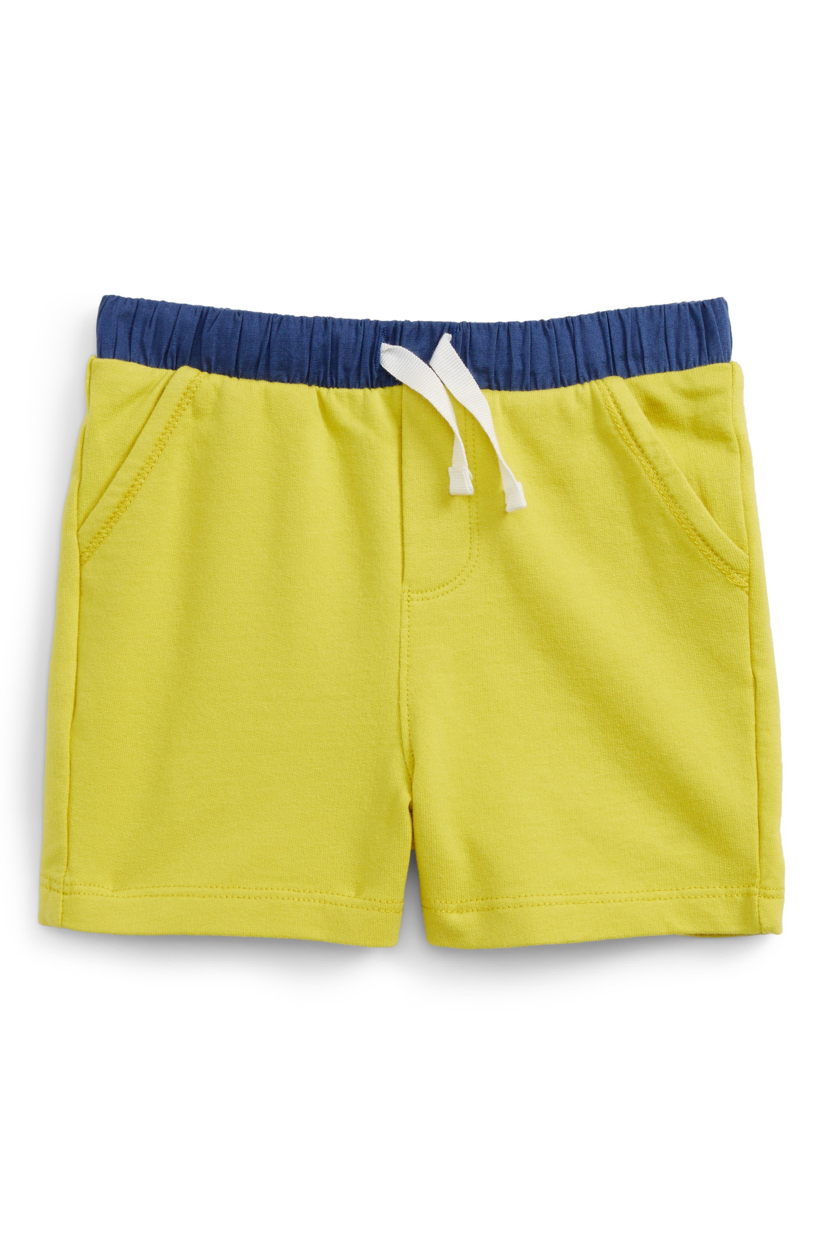 Mini Boden Jersey Shorts (Baby Boys)