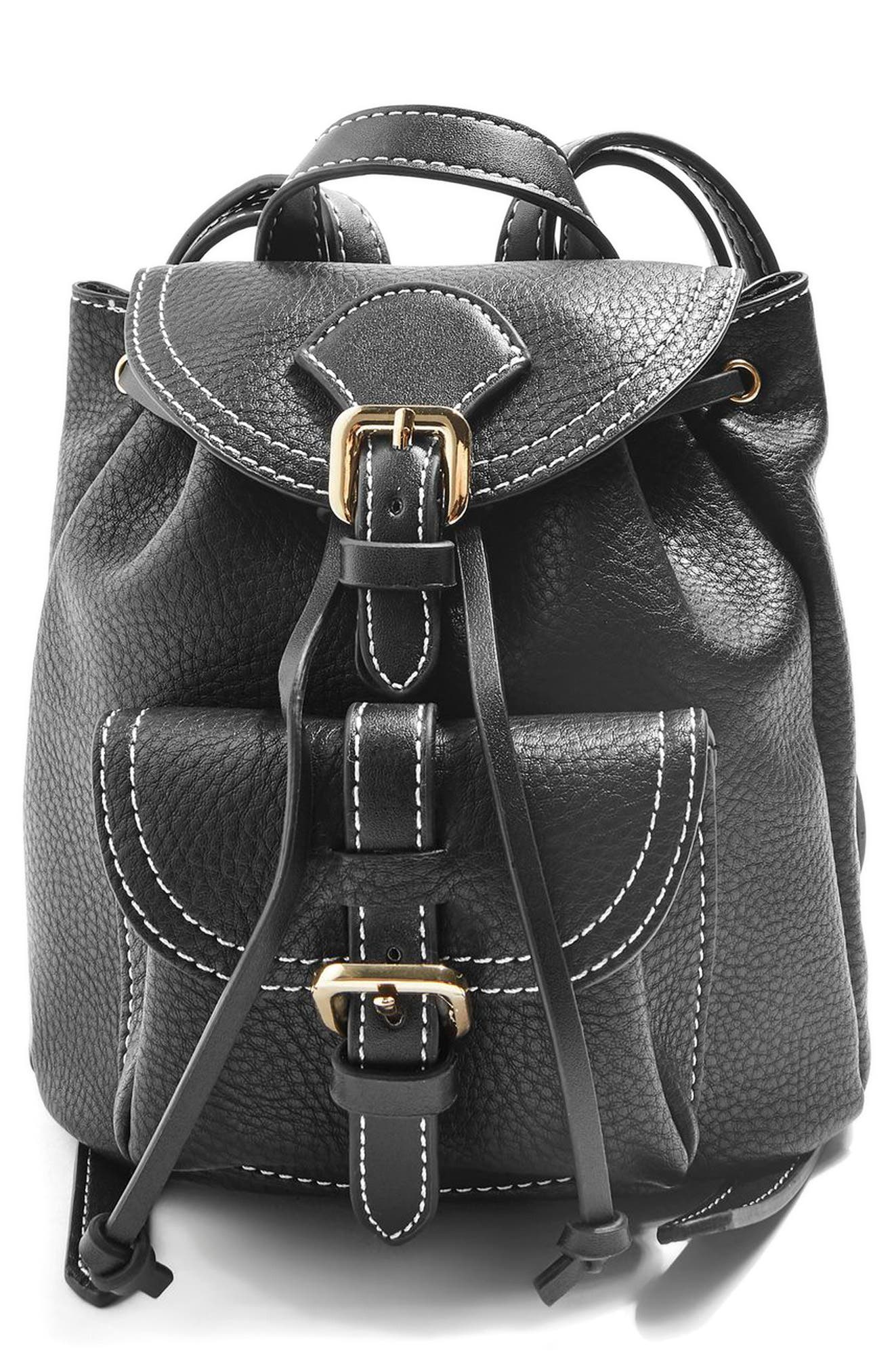 Topshop Bruno Super Mini Faux Leather Backpack