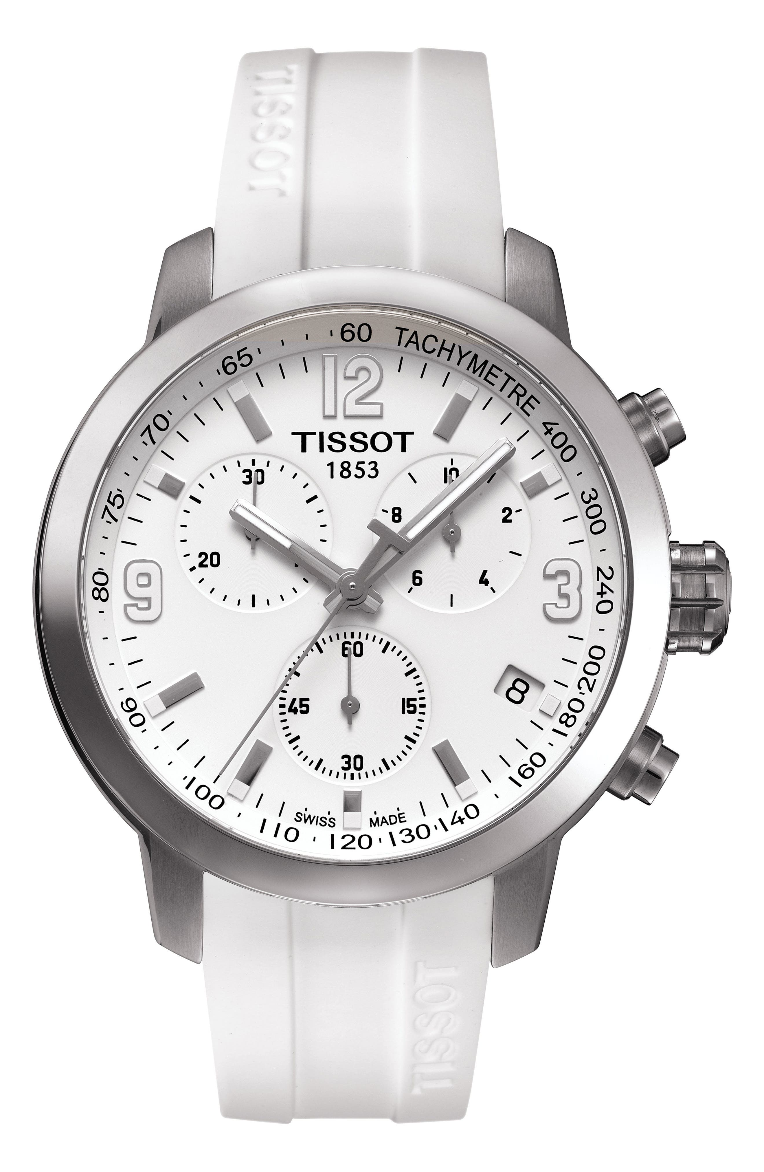 Tissot PRC200 Chronograph Silicone Strap Watch, 41mm