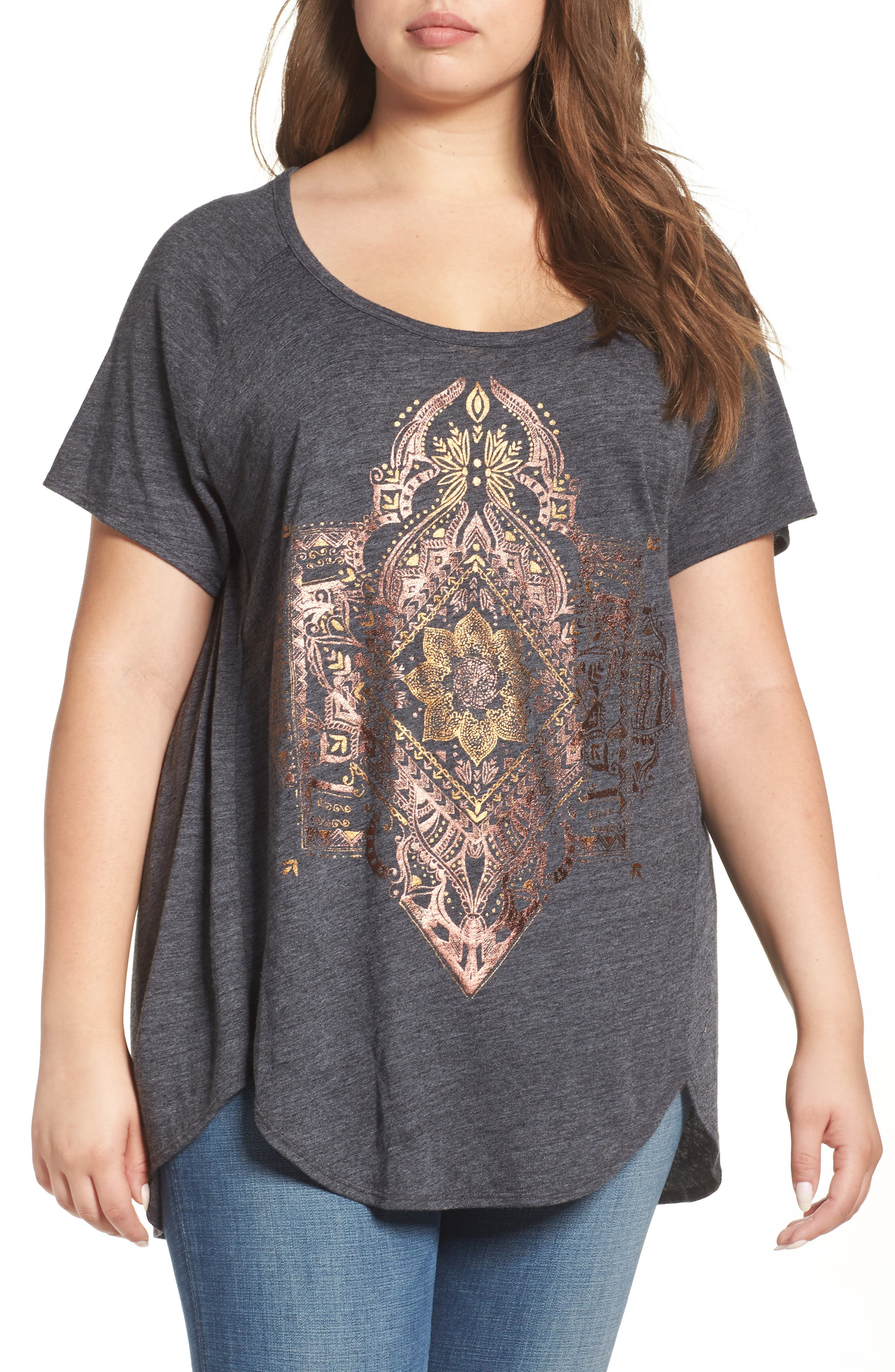 Lucky Brand Egyptian Mono Graphic Tee (Plus Size)