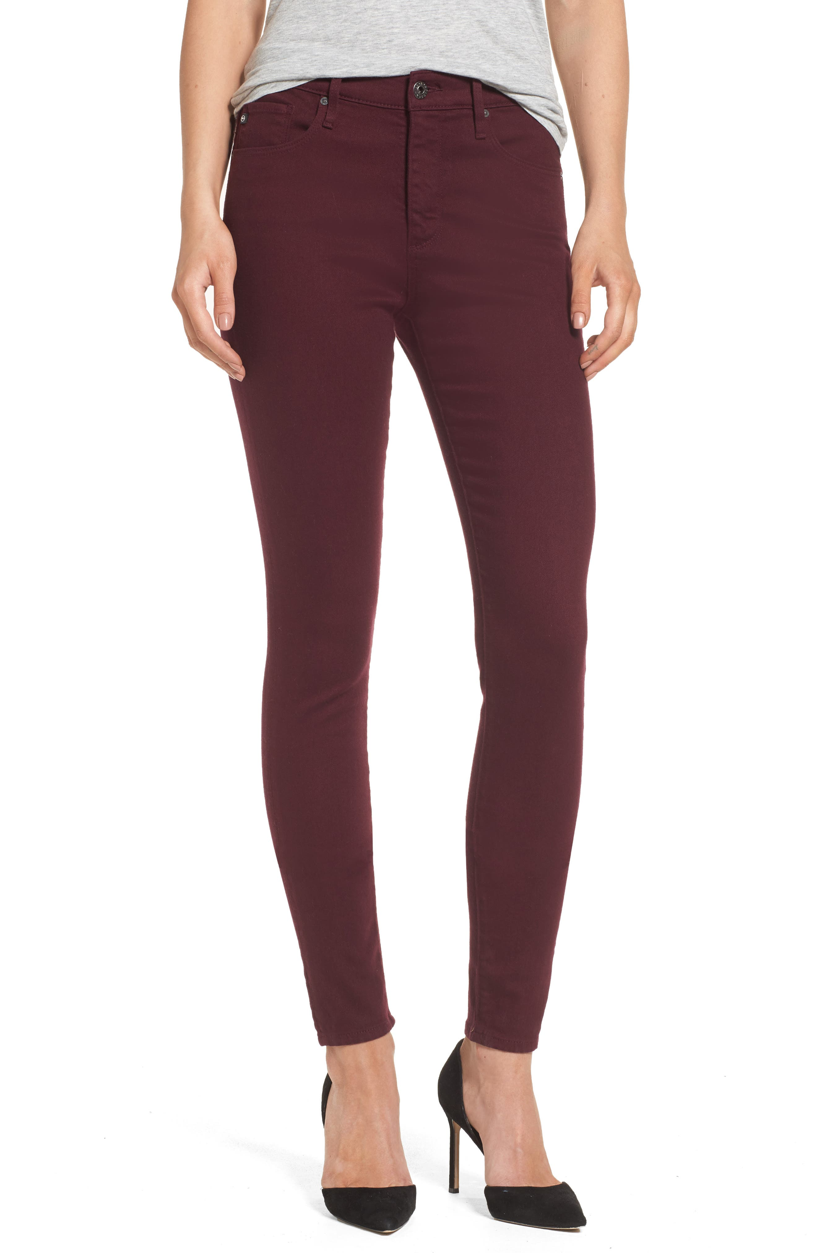 AG Farrah High Waist Skinny Jeans (Deep Currant)