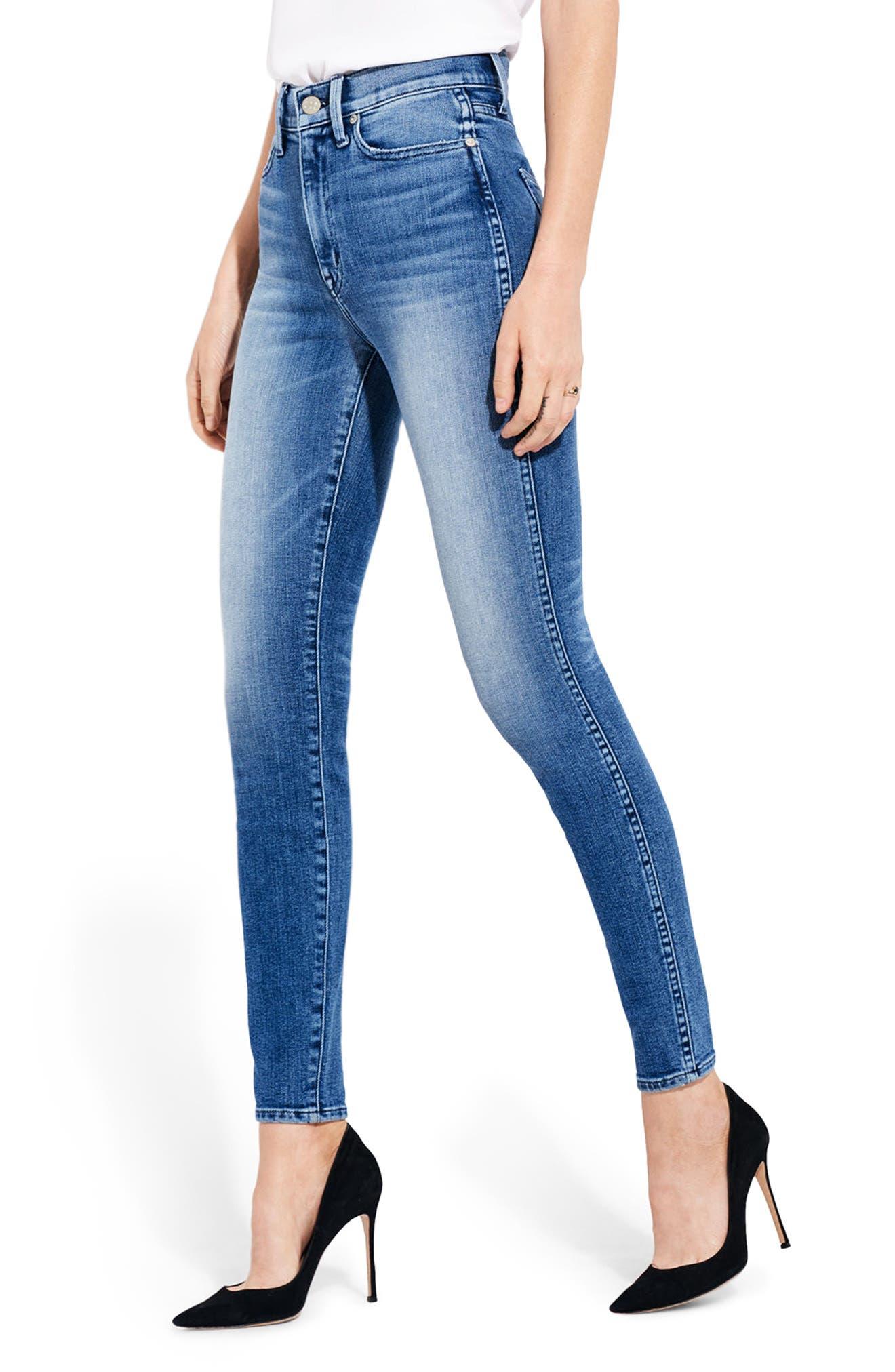 AYR The Riser High Waist Skinny Jeans (Neon Jupiter)