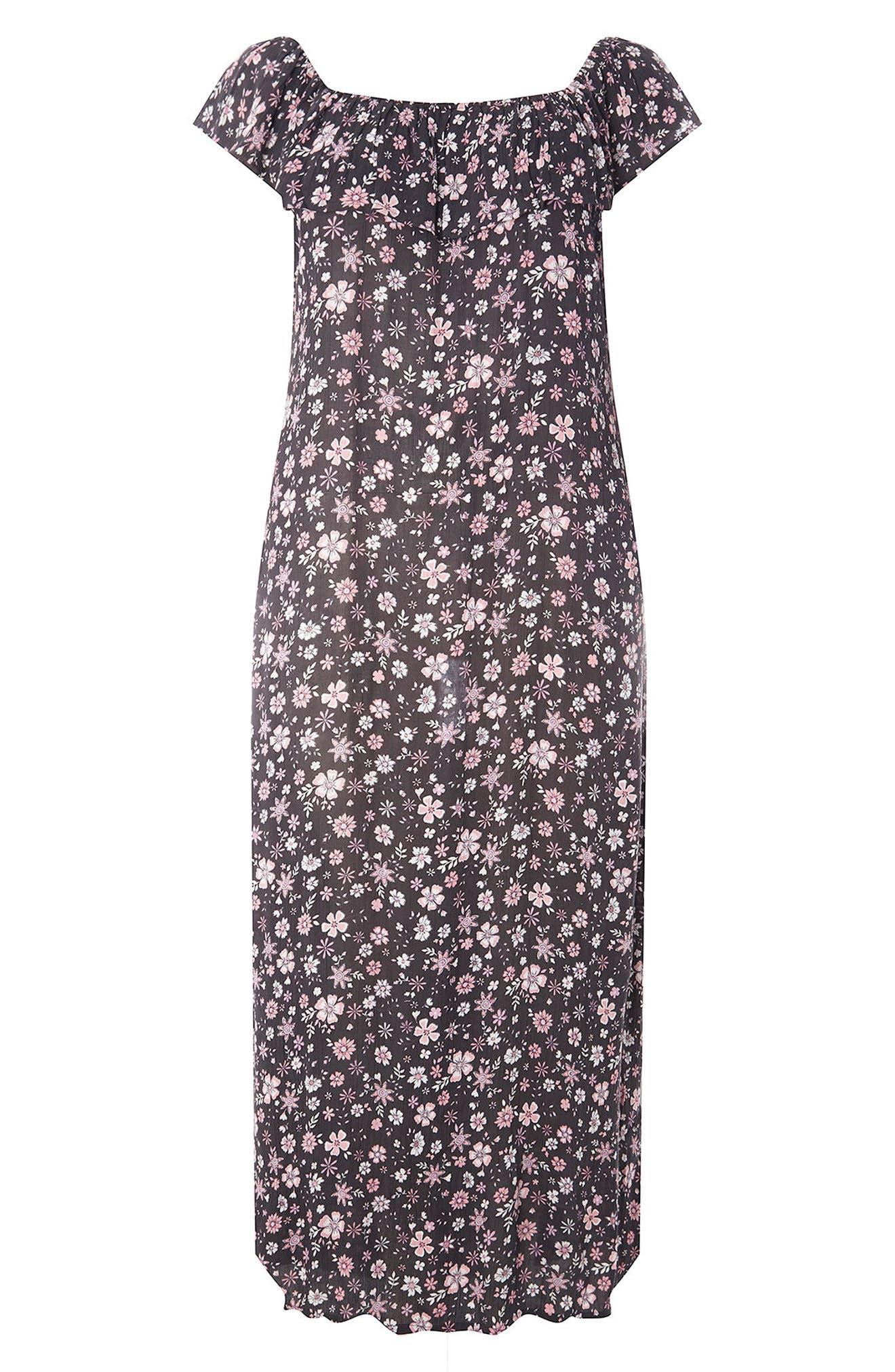 Evans Ditsy Floral Convertible Maxi Dress (Plus Size)