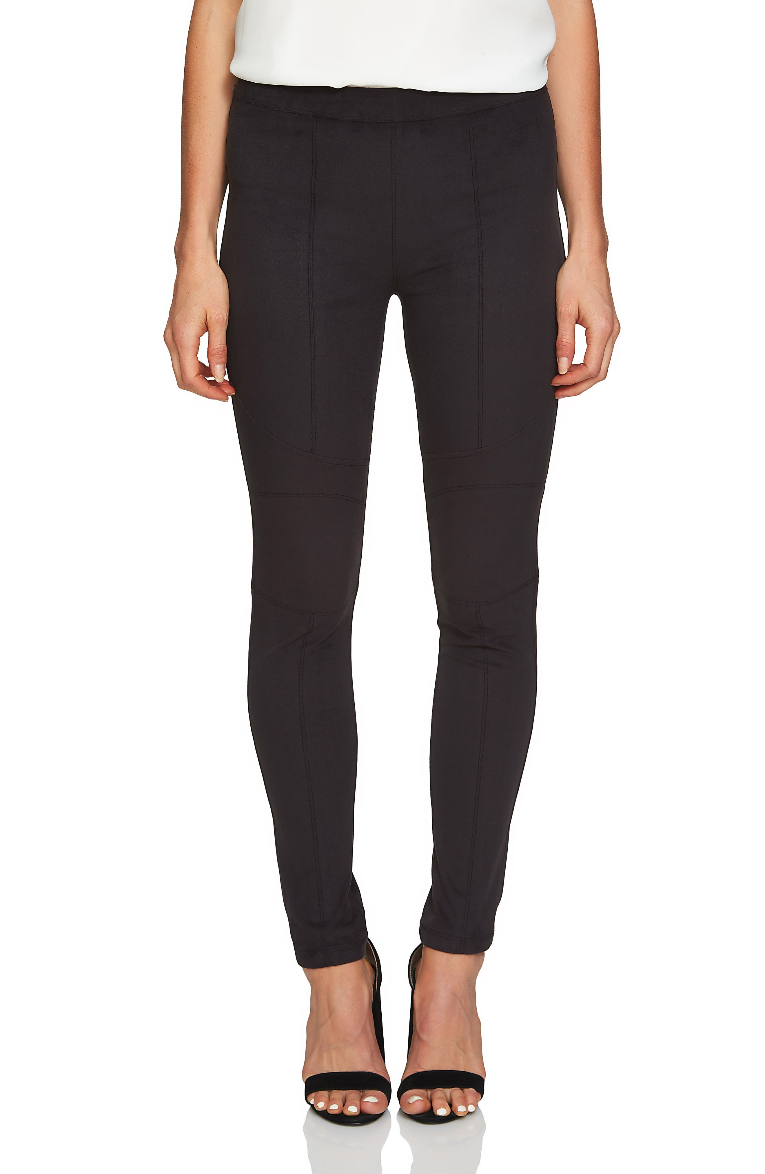 1.STATE Seamed Faux Suede Leggings