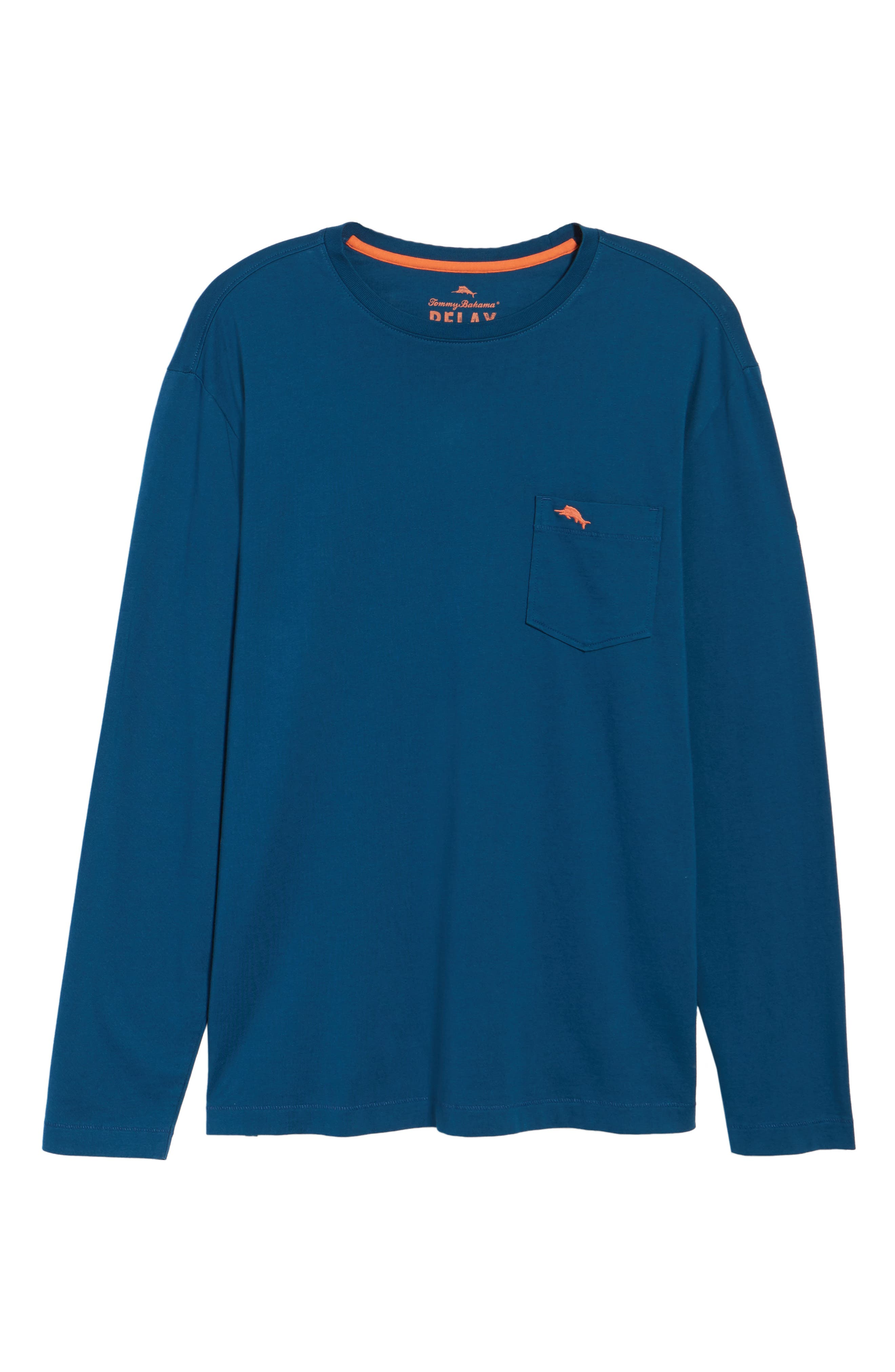 Alternate Image 6  - Tommy Bahama 'Bali Skyline' Long Sleeve Pima Cotton T-Shirt (Big & Tall)
