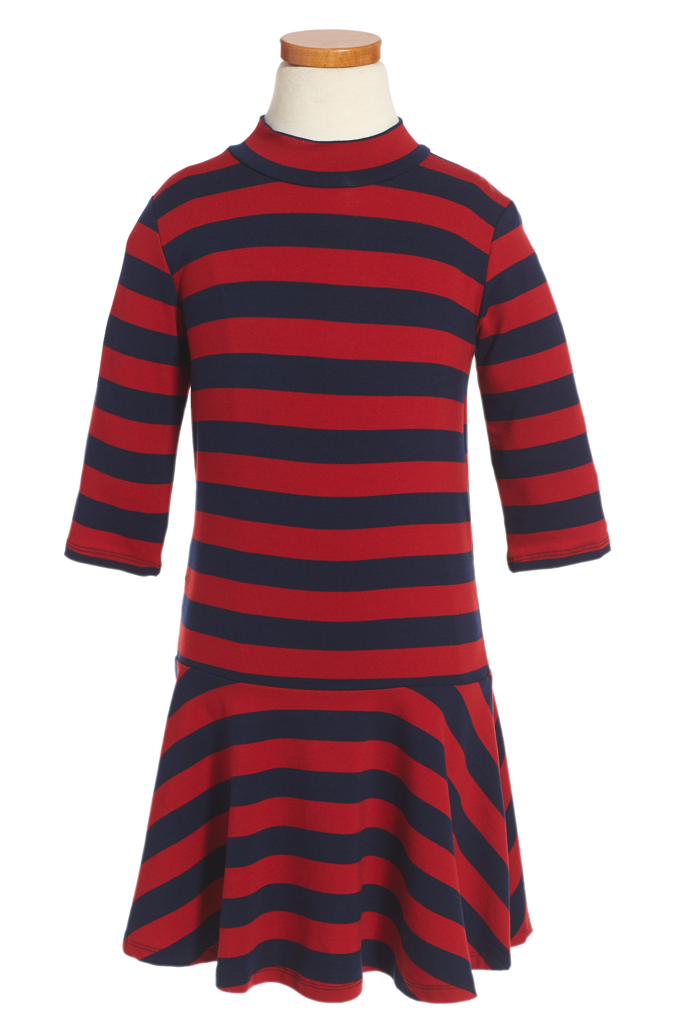 Mini Rodini Blockstripe Drop Waist Dress (Toddler Girls & Little Girls)