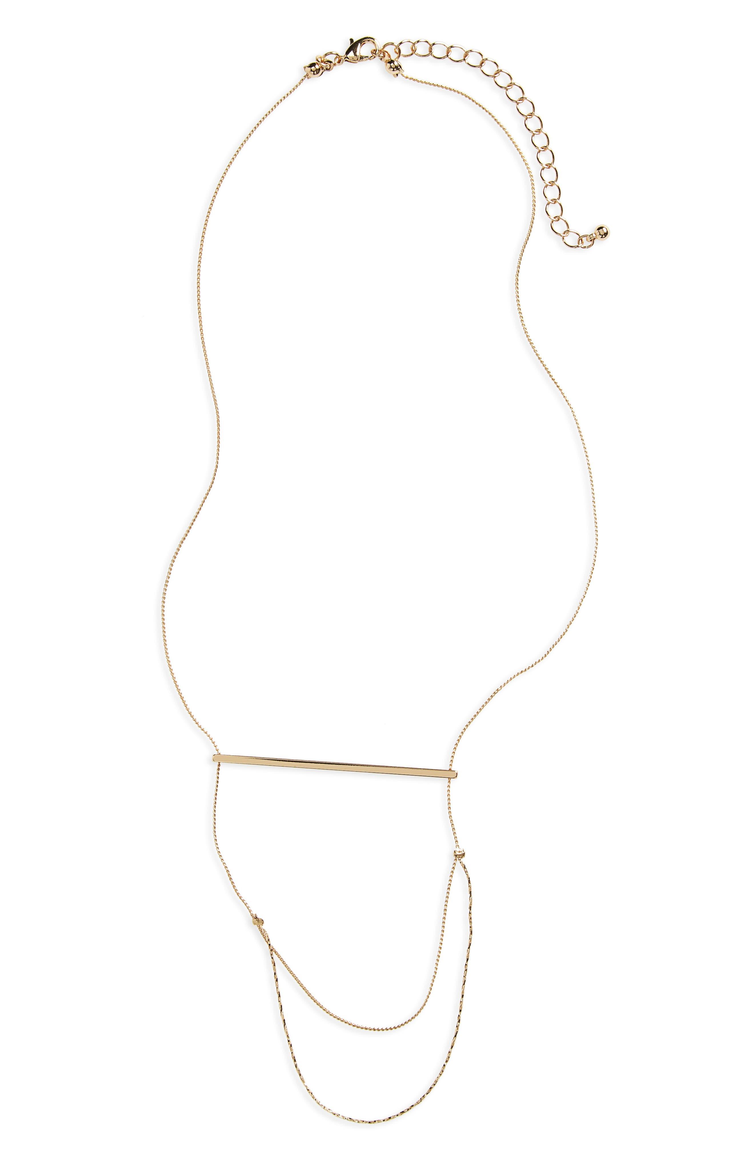 BP. Layered Cross Bar Necklace