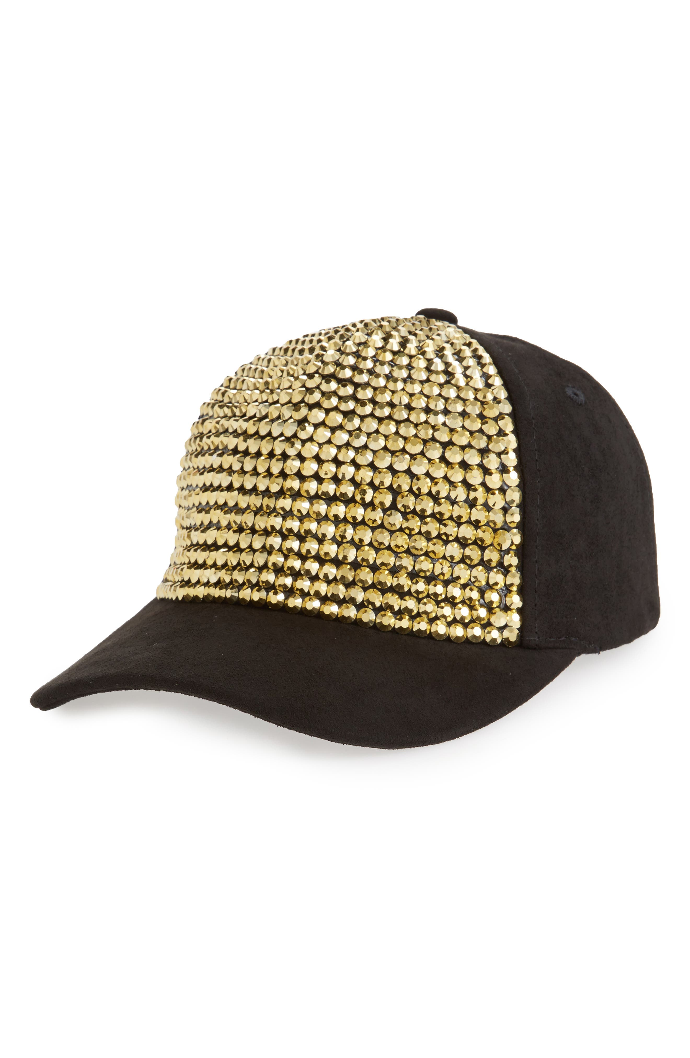 Amici Accessories Crystal Studded Ball Cap
