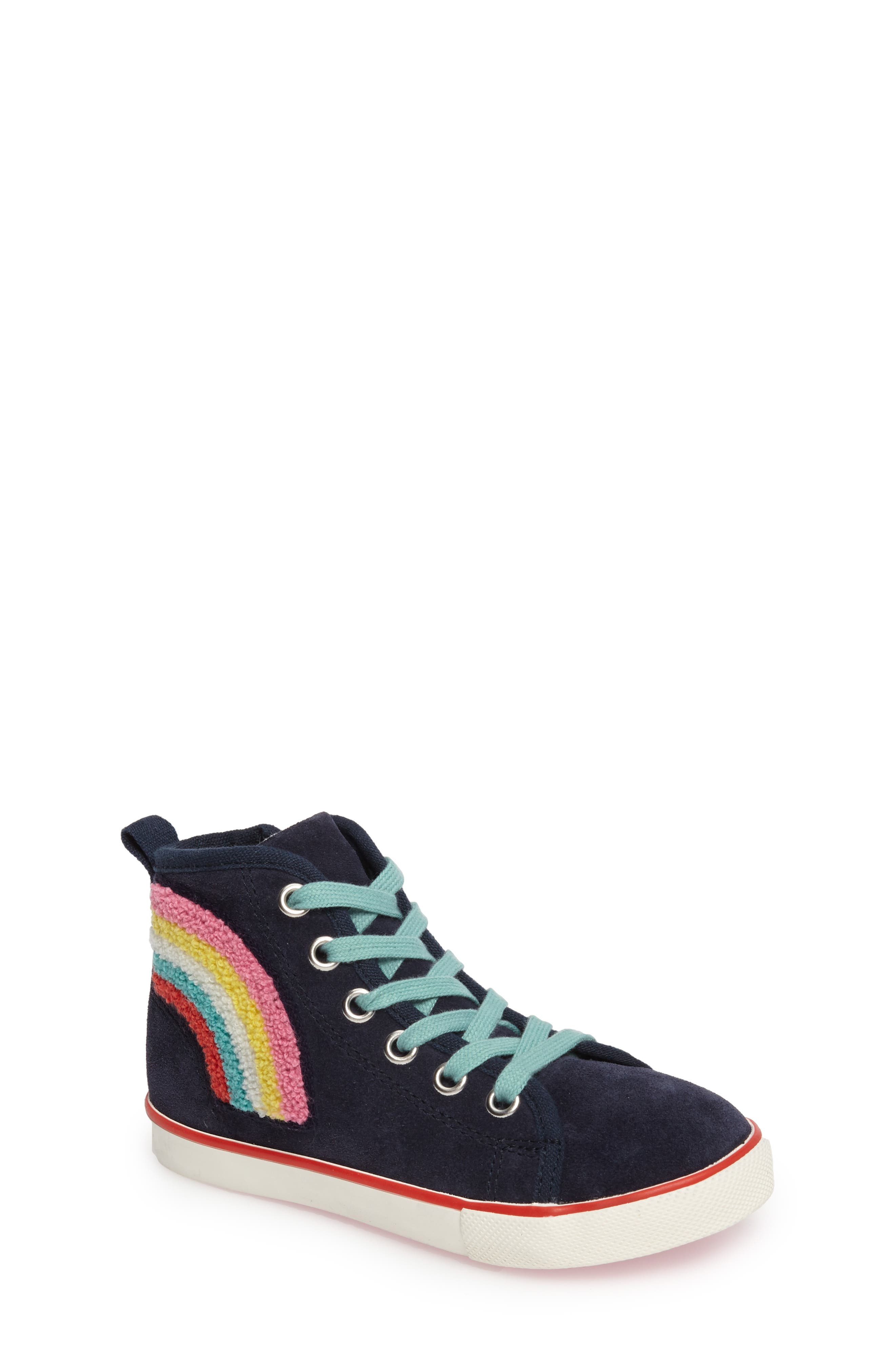 Mini Boden Embellished High Top Sneaker (Toddler, Little Kid & Big Kid)
