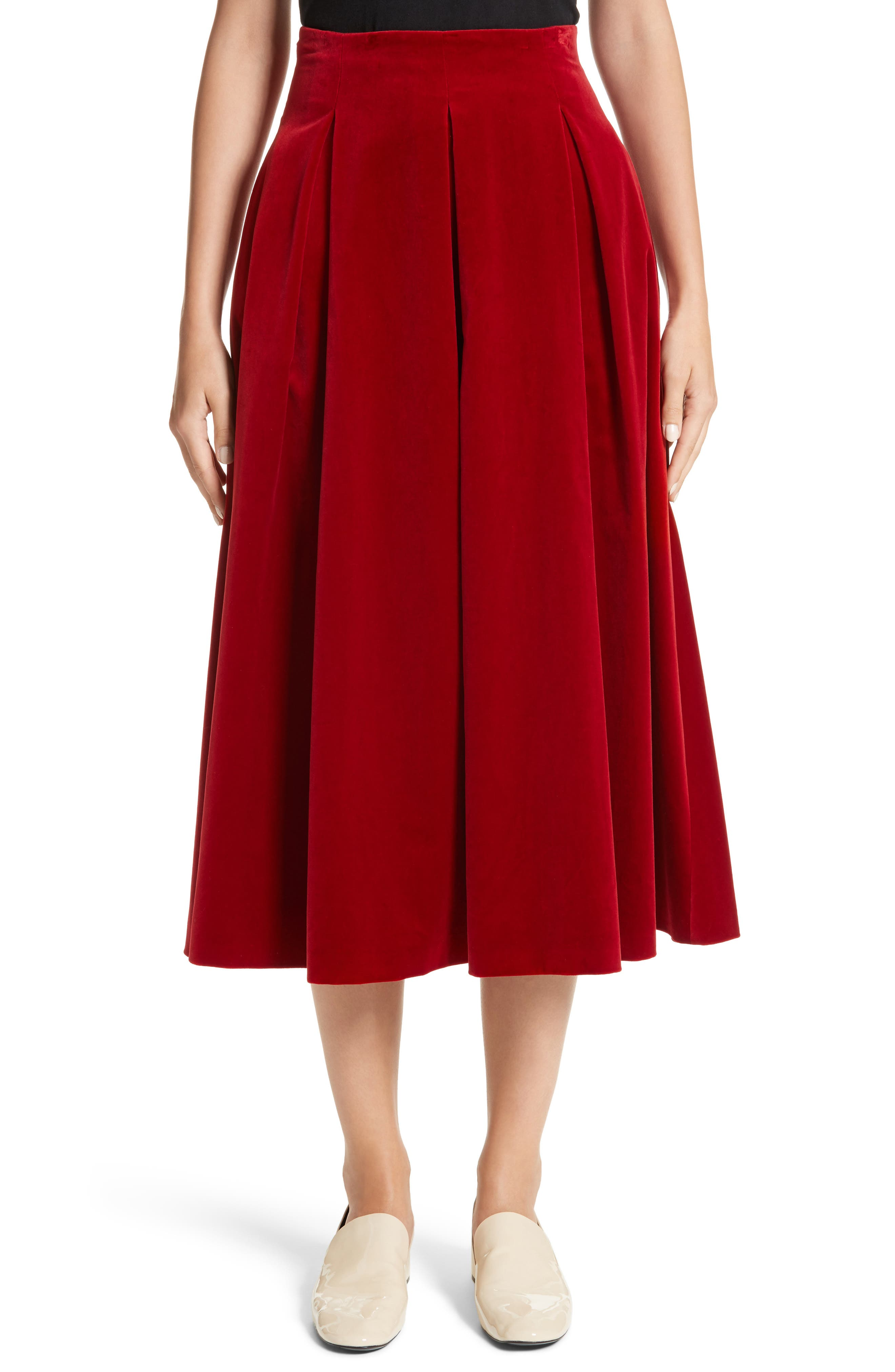 Max Mara Gioia Velvet Skirt