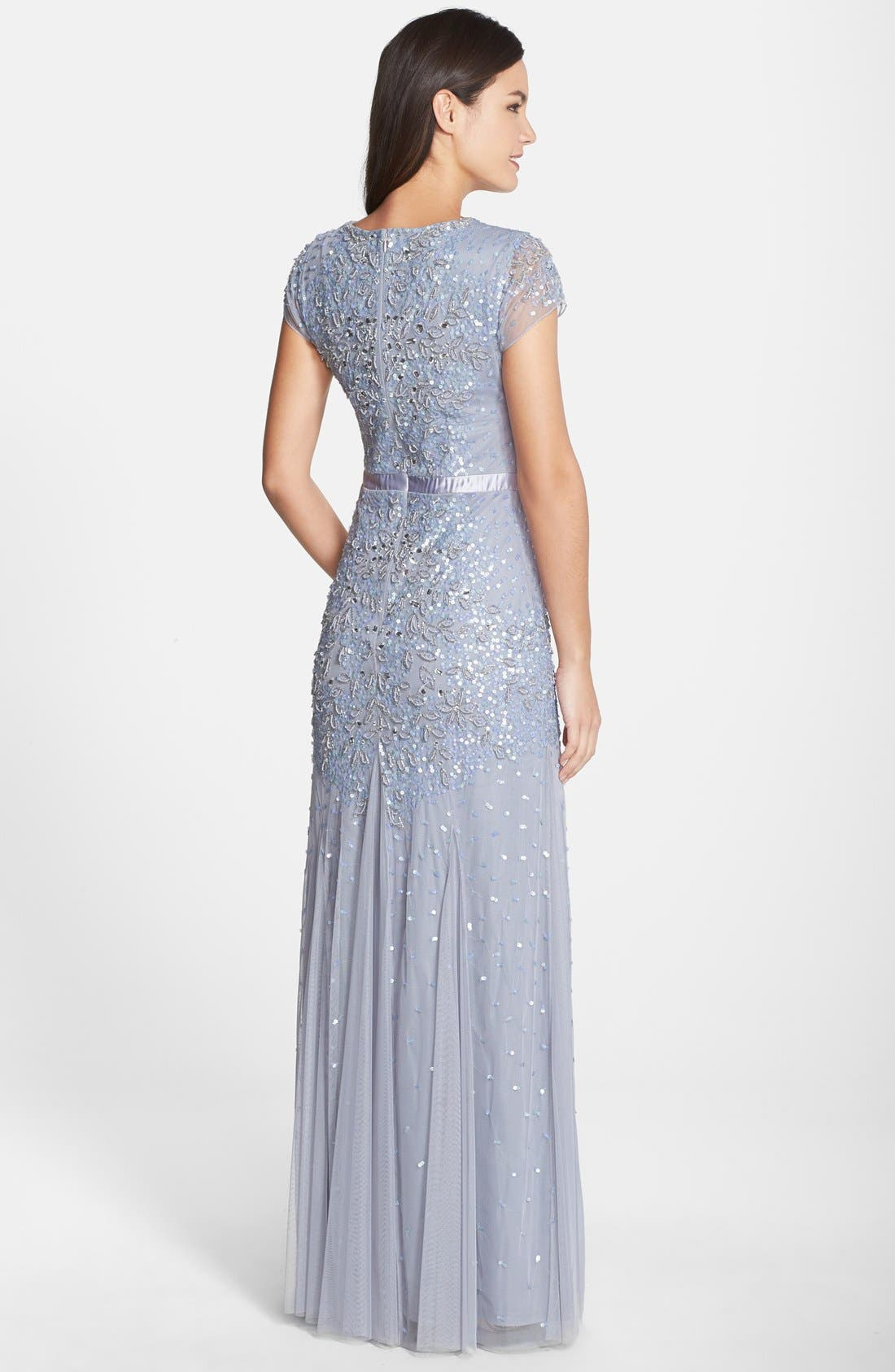 Alternate Image 2  - Adrianna Papell Beaded Cap Sleeve Gown