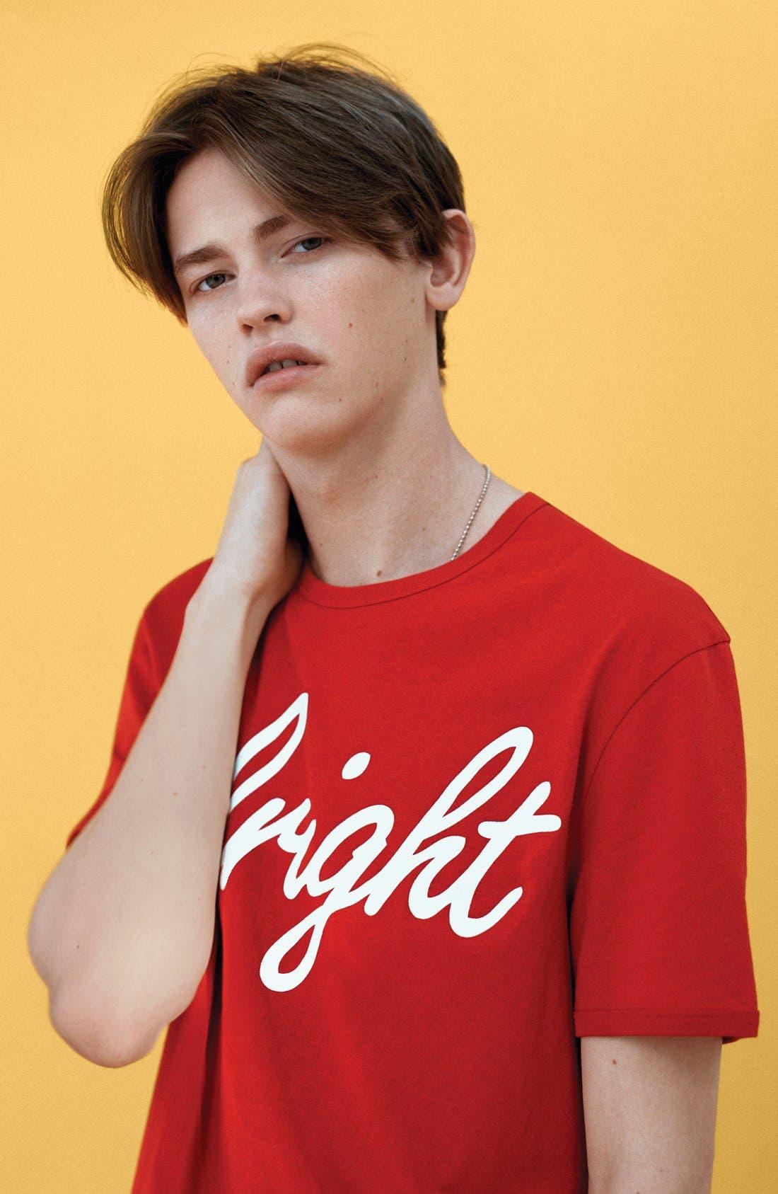 Alternate Image 4  - Topman 'Alright' Jersey T-Shirt (Brit Pop-In) (Nordstrom Exclusive)
