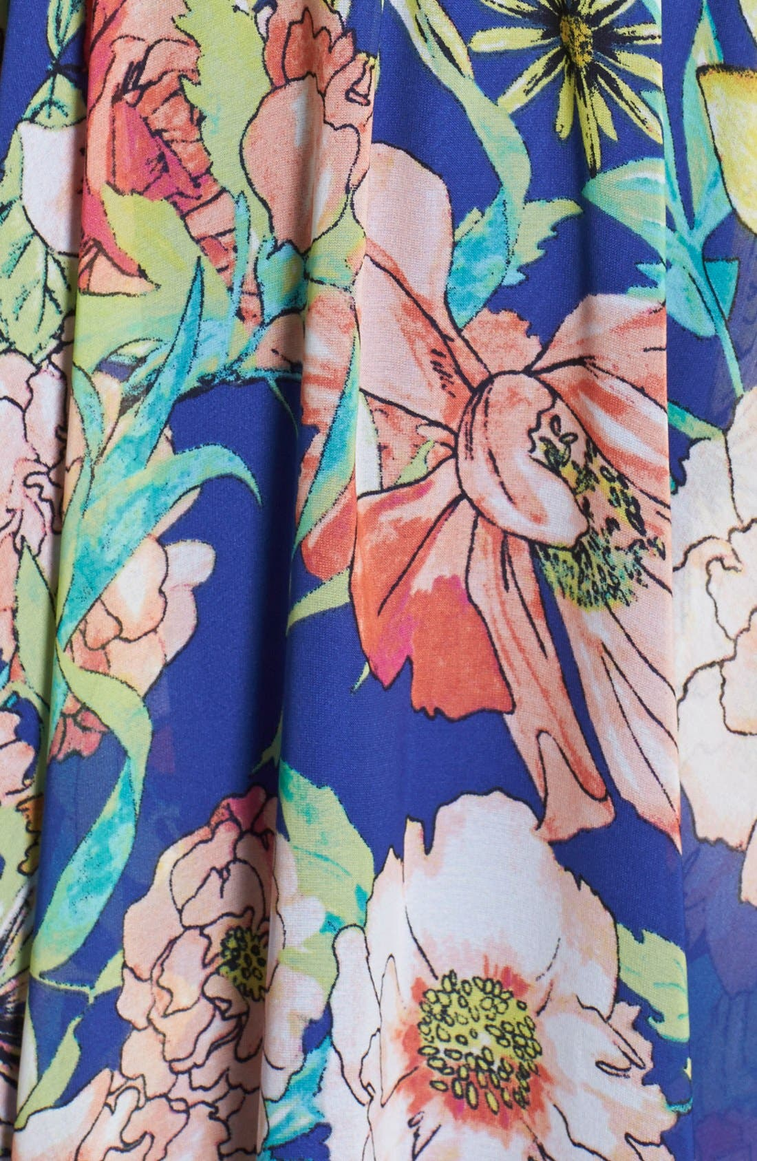 Alternate Image 3  - KUT from the Kloth Floral Print Chiffon High/Low Dress